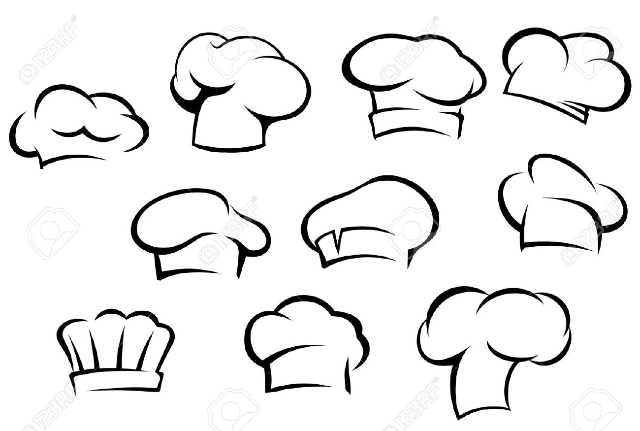 Chef Hat Icon Vector Vector White Chef Hats And