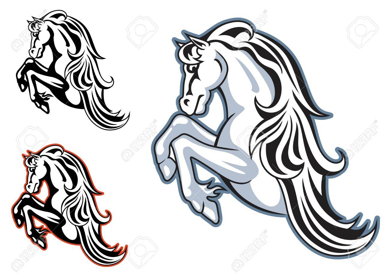 Wild Horse Stallion For Mascot Or Tattoo Design Royalty Free Cliparts Vectors And Stock Illustration Image 17441923