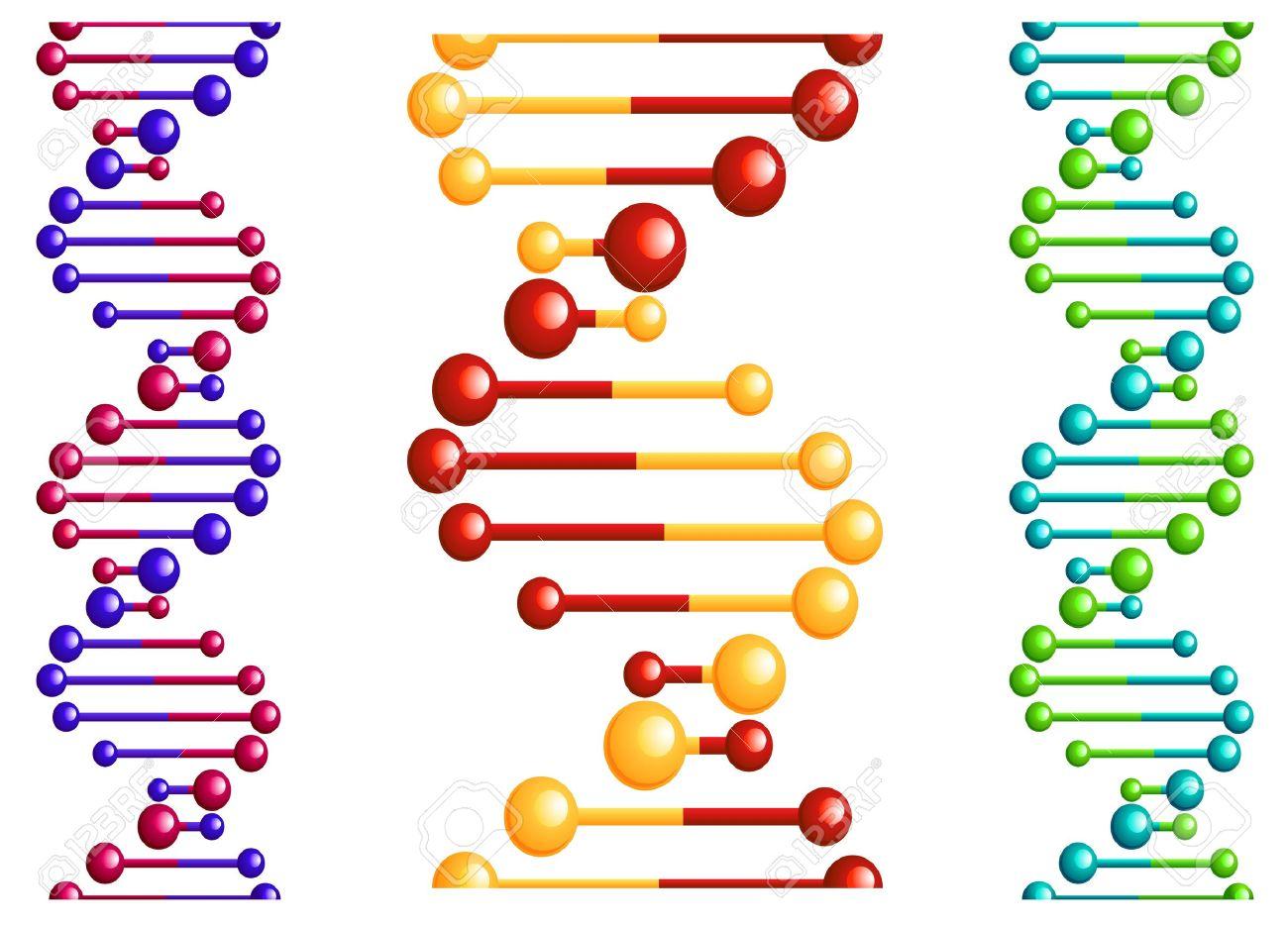 DNA molecule with elements for biology or medicine concept design Stock Vector - 18870740