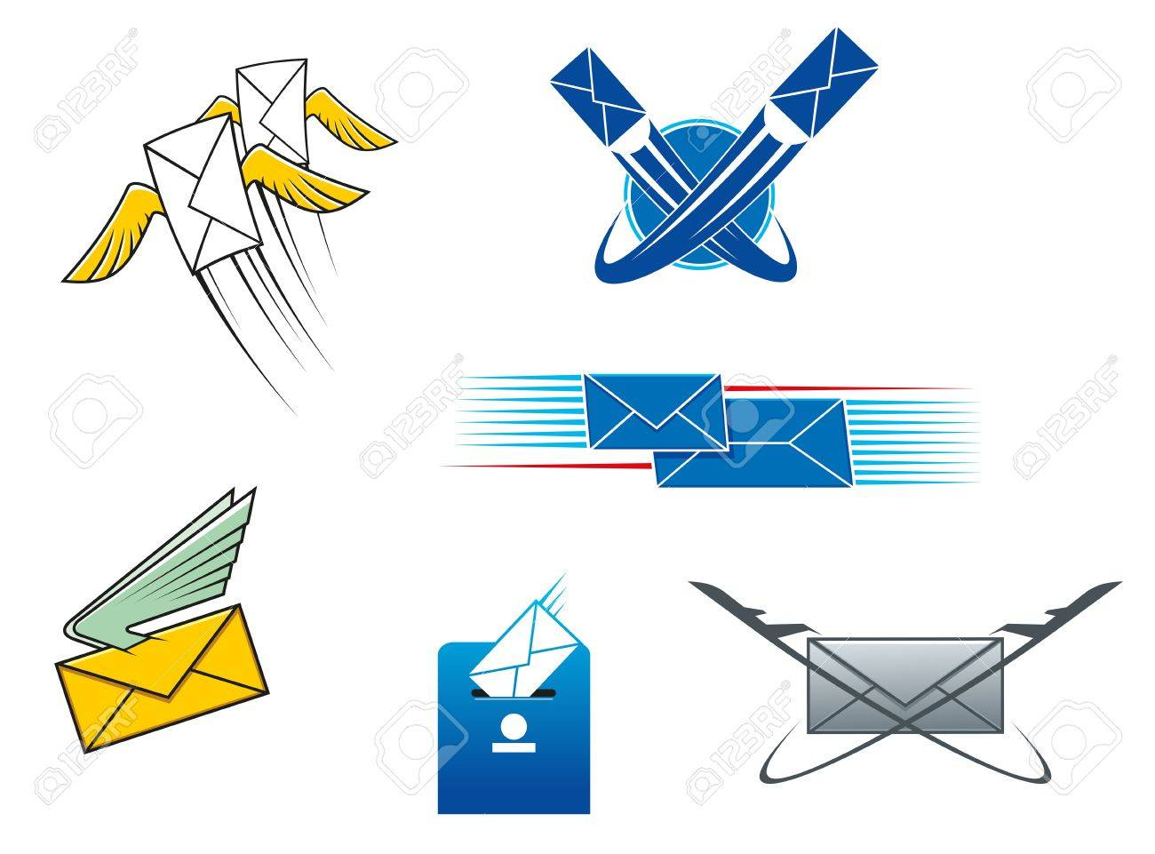 Post mail and letters symbols for postal service concept design post mail and letters symbols for postal service concept design stock vector 20325247 biocorpaavc Gallery