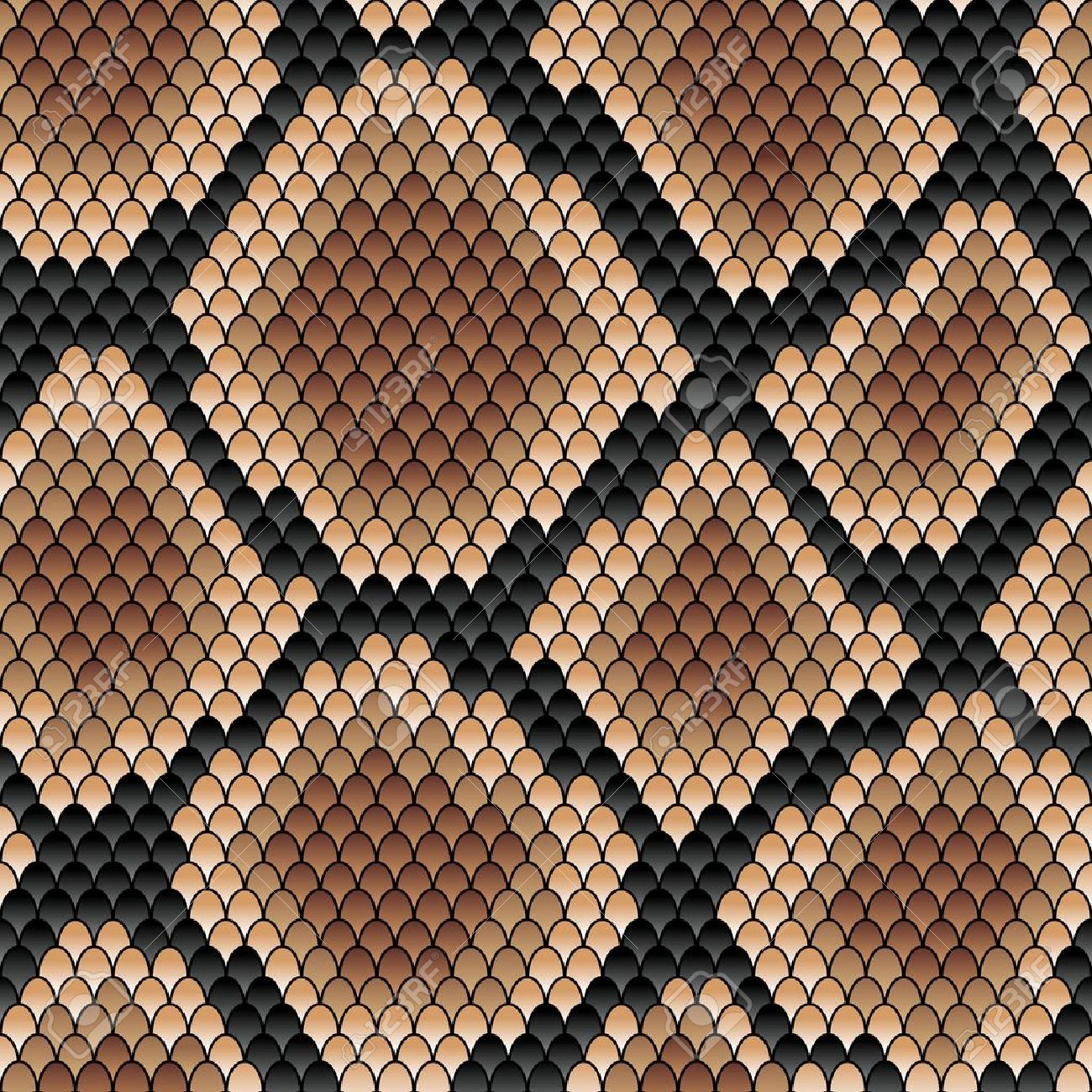 Brown snake seamless patternfor background or fashion design Stock Vector - 20721543
