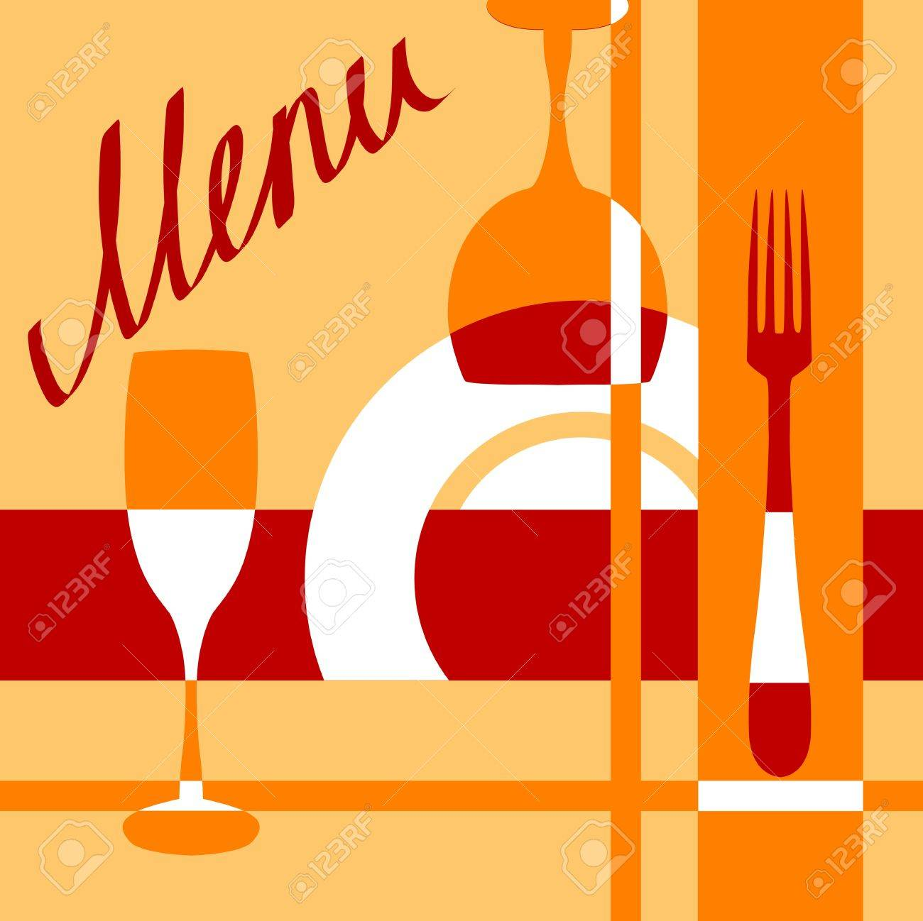 Bar or cafe menu cover background for design - 21317742