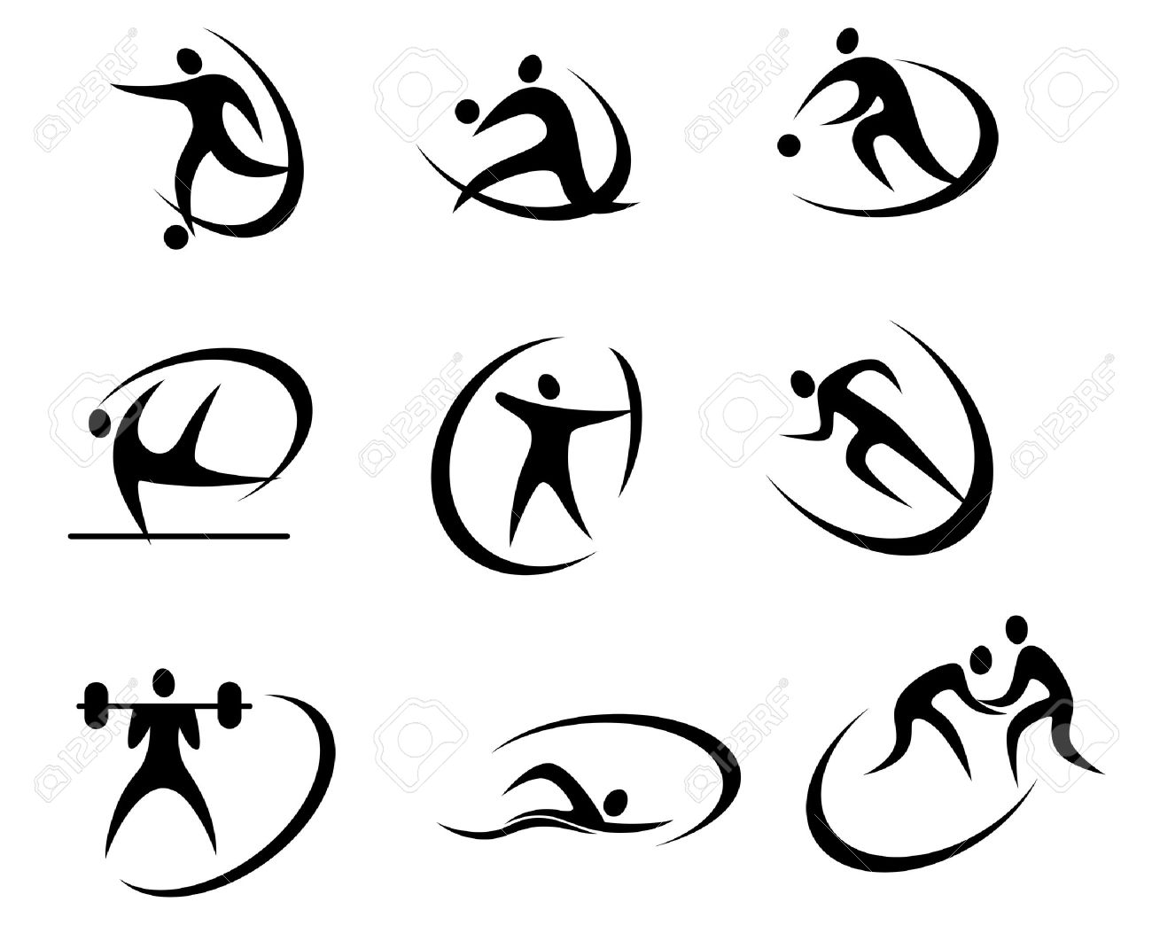 Different kinds of sports symbols for competition and tournament different kinds of sports symbols for competition and tournament design stock vector 21528957 buycottarizona