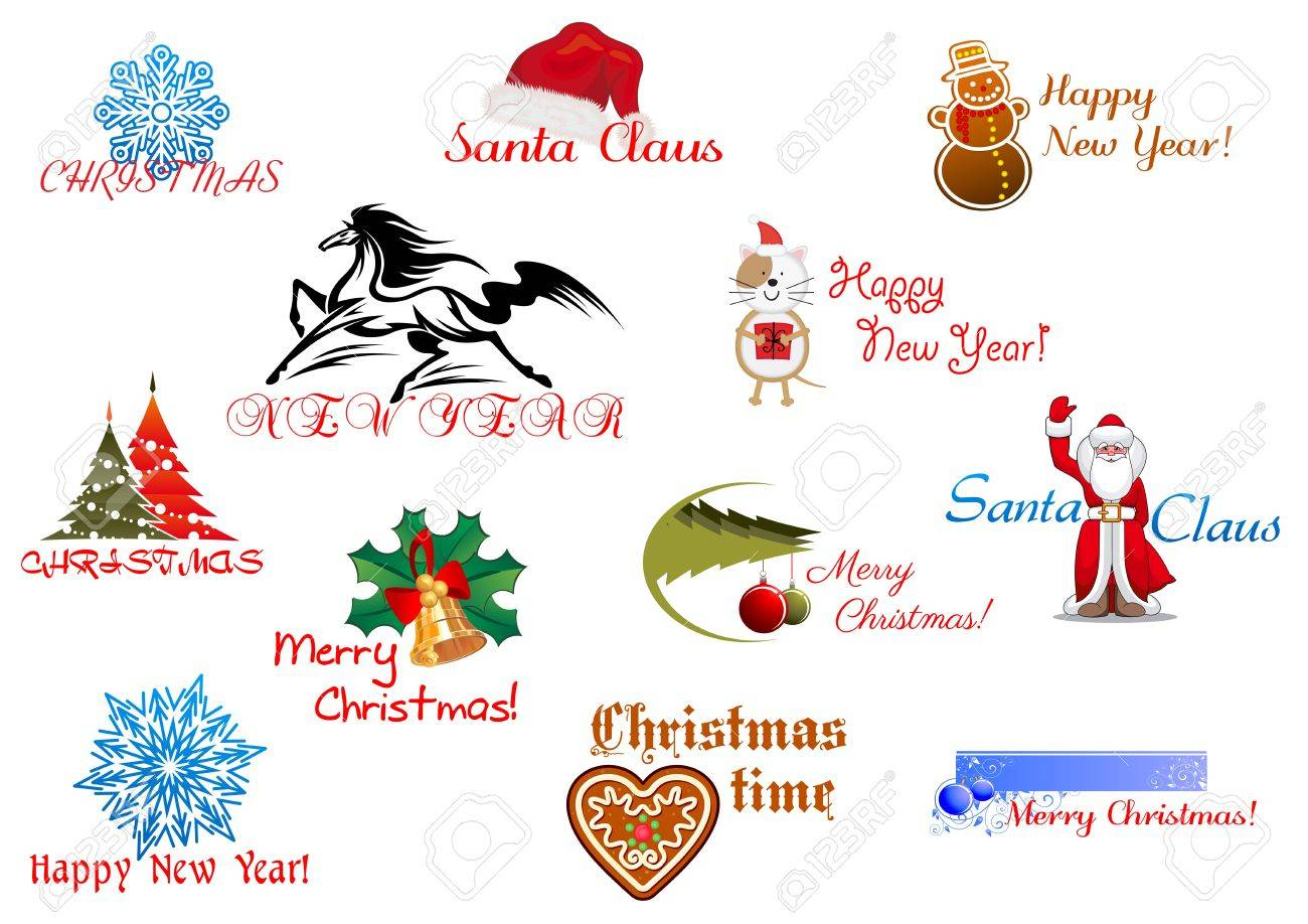 Symbols of Christmas and New Year for holiday design Stock Vector - 21923092