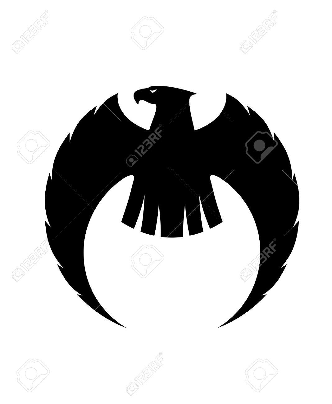 25950401-Powerful-eagle-      Eagle Head Silhouette Vector