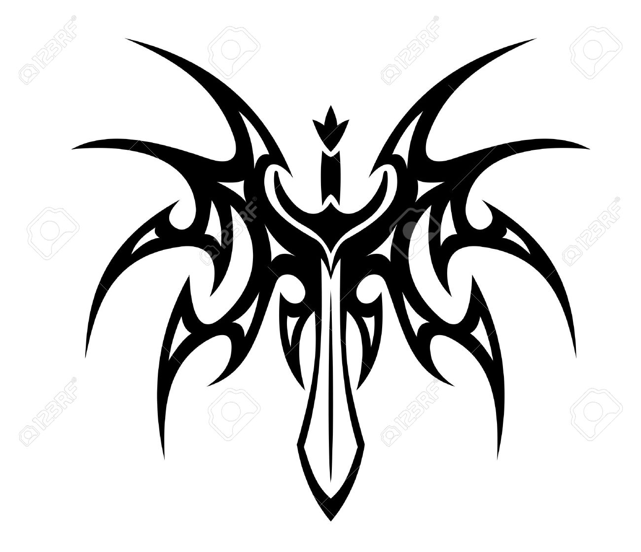 Sword With Wings Logo Vector Winged Sword Tattoo