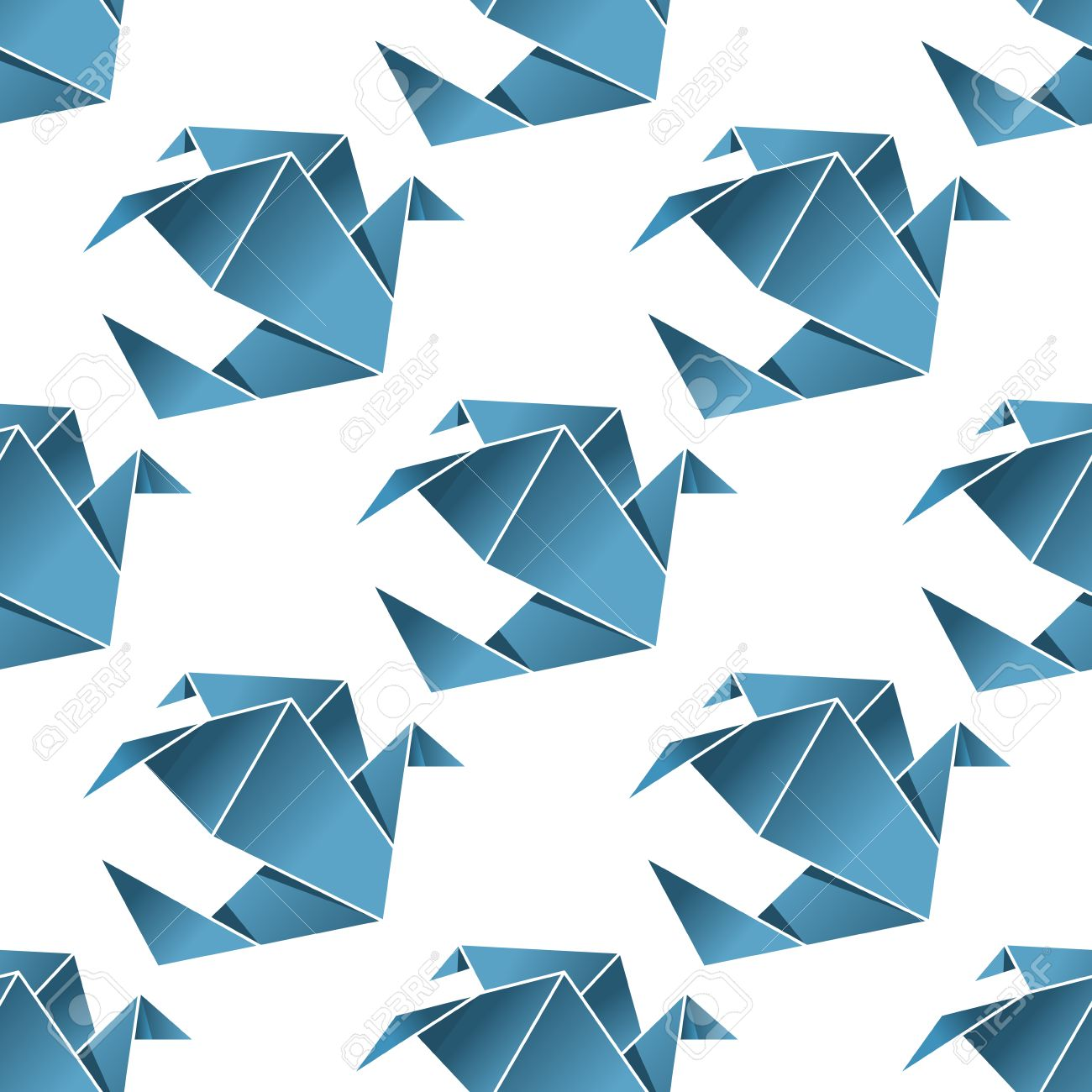 Seamless pattern of origami flying pigeon birds in the tradition seamless pattern of origami flying pigeon birds in the tradition of japanese paper folding in square jeuxipadfo Image collections