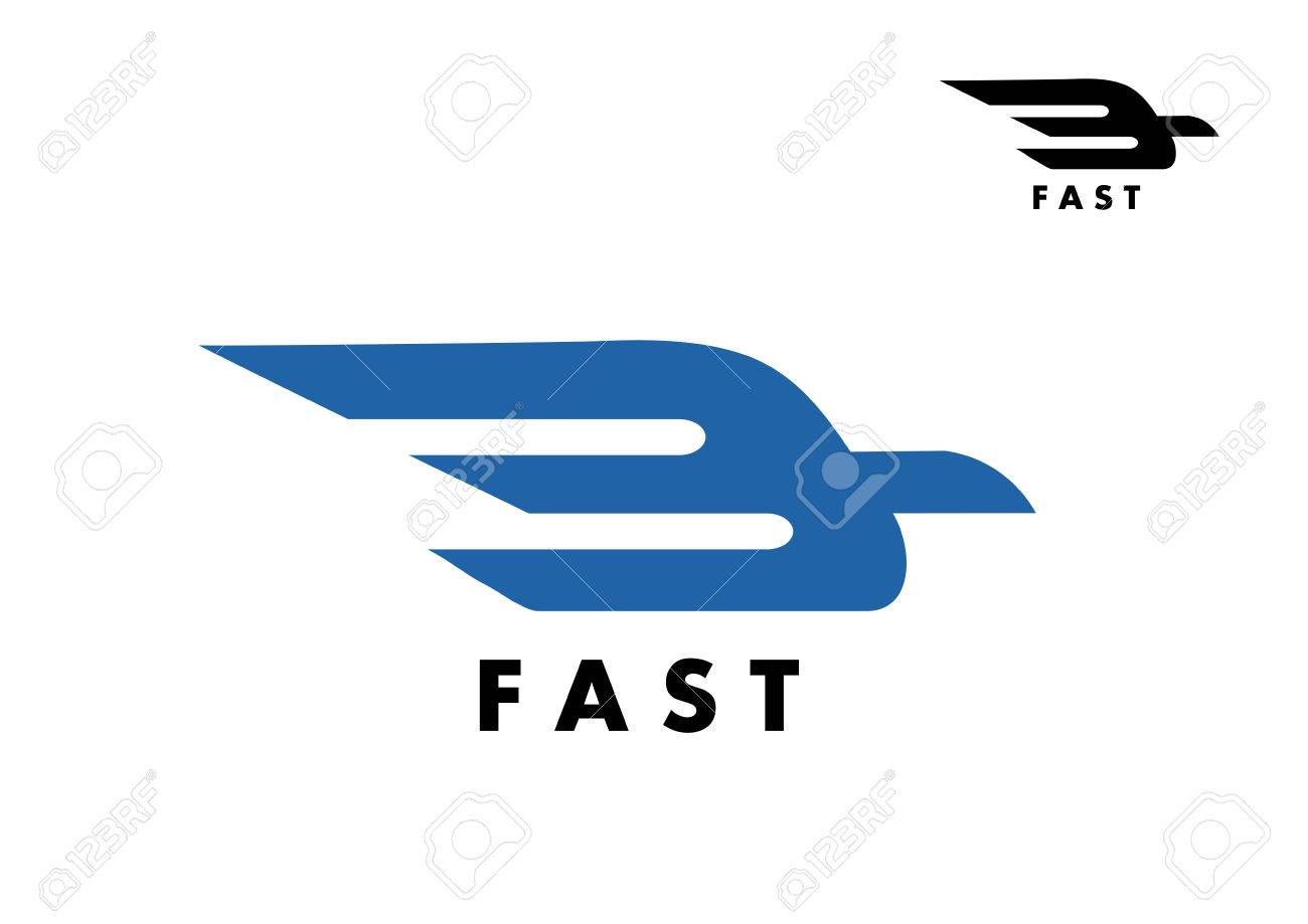 Fast icon with a stylized bird in flight with trailing wings fast icon with a stylized bird in flight with trailing wings for delivery air mail biocorpaavc Gallery