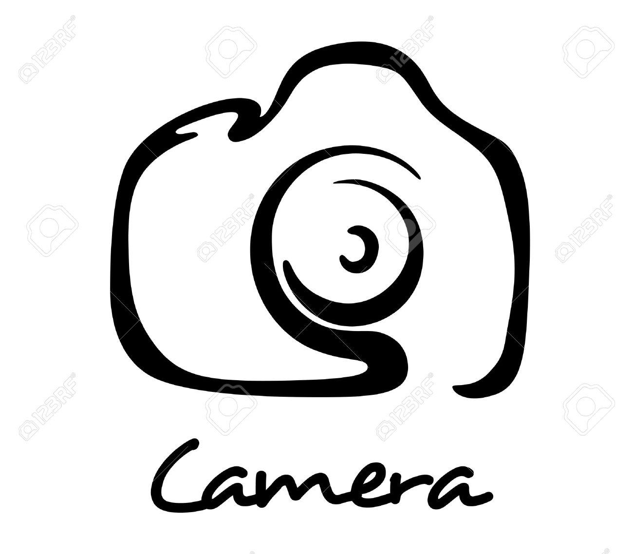 Digital-Kamera-Symbol, Symbol Oder Logo In Outline-Stil Für Kunst ...