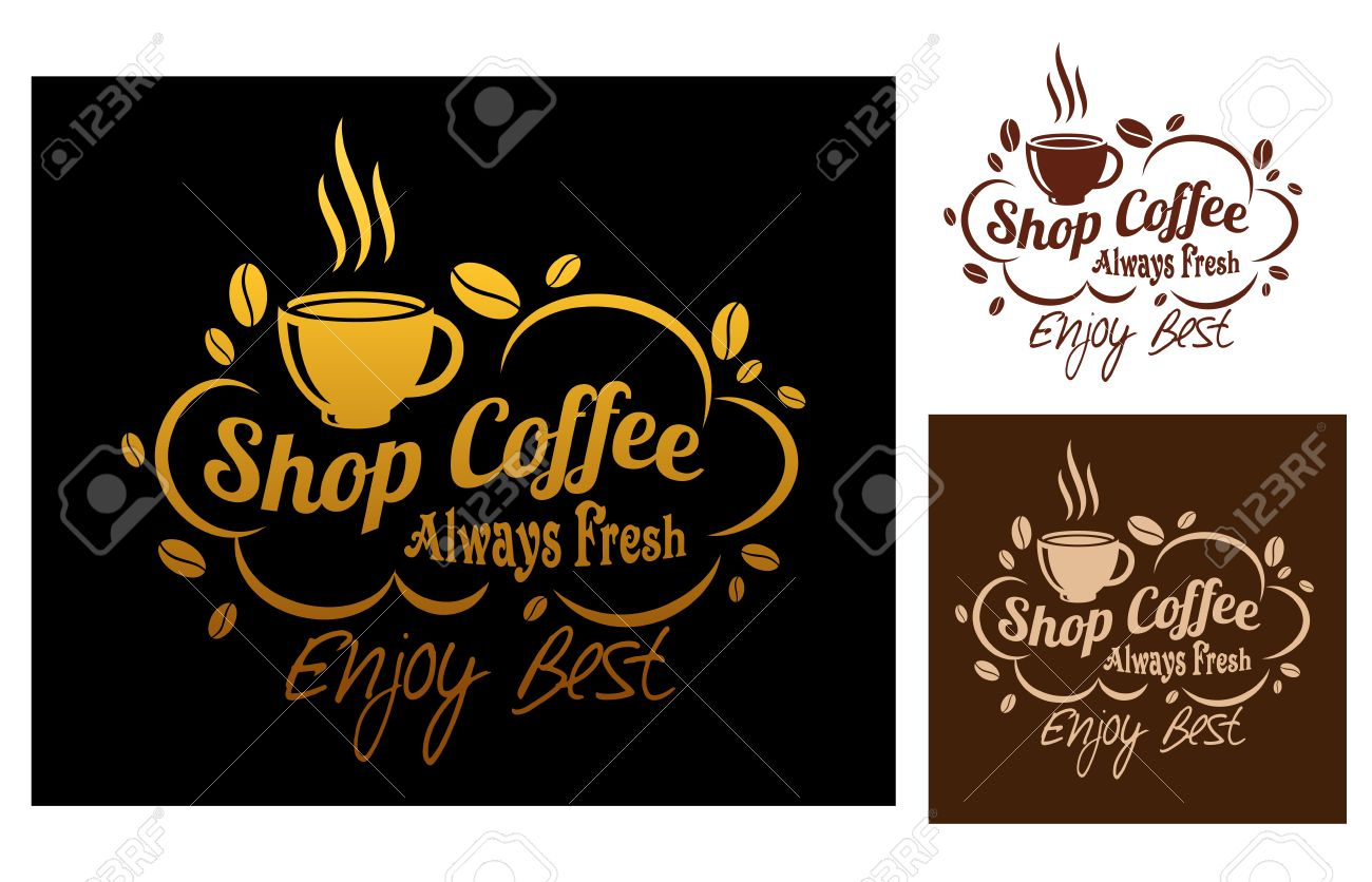 Amato Tre Varianti Di Colore Sempre Fresco Simbolo Migliore Caffè O Un  PB38