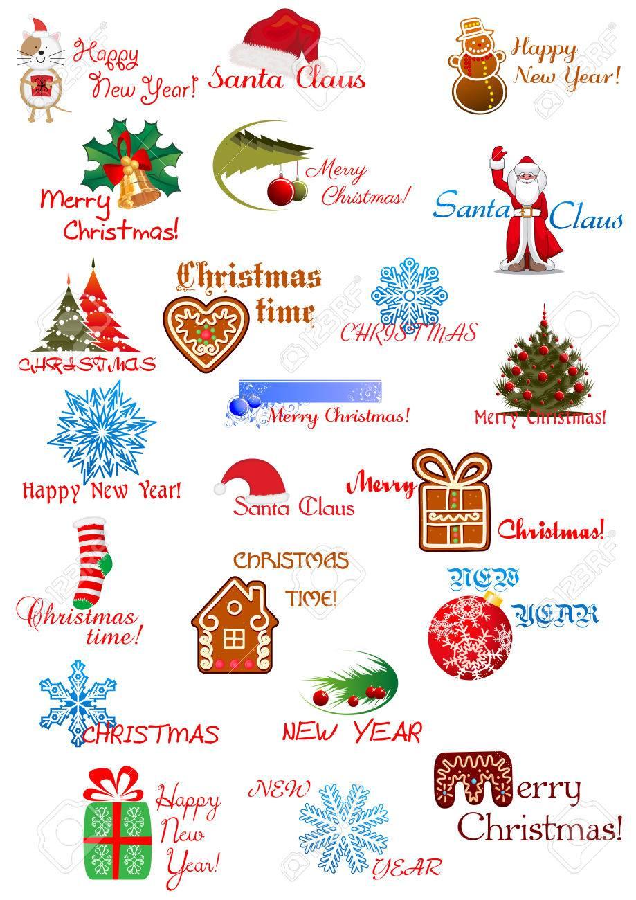 Vacances Dessins Pour Noël Et Nouvel An Carte De Voeux, D
