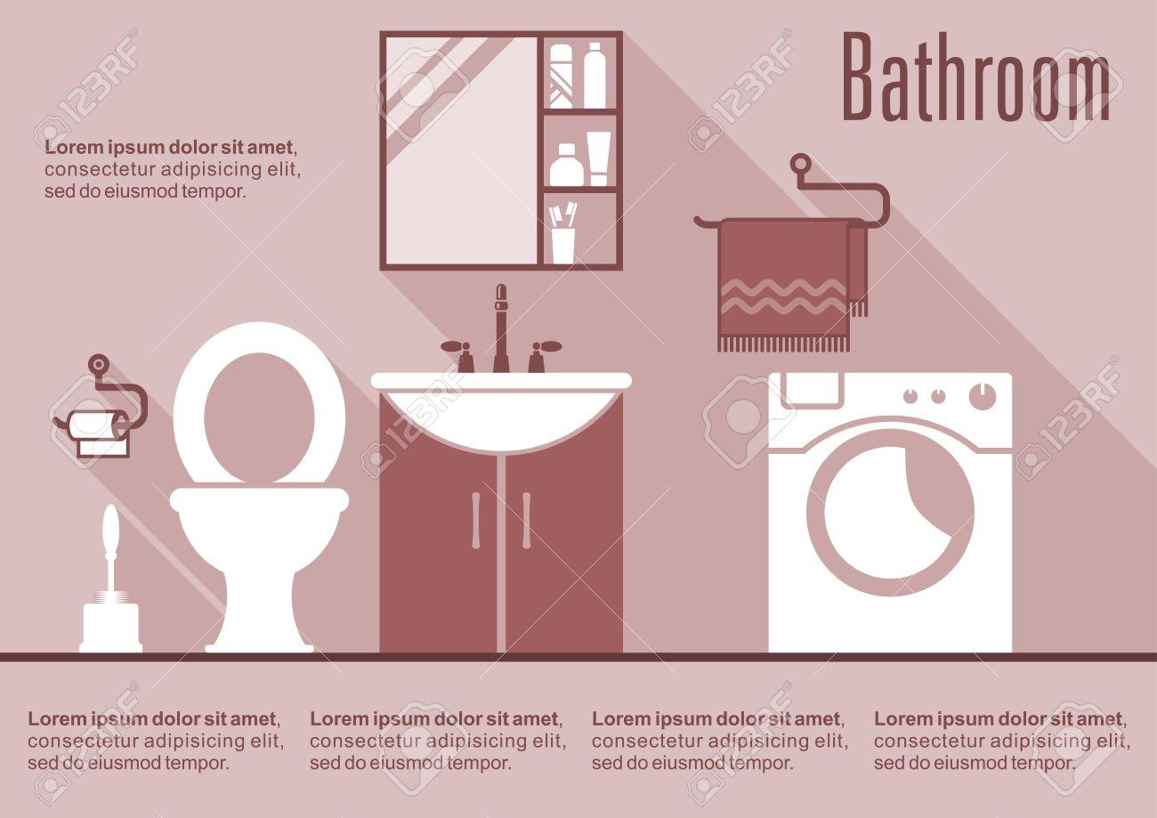 Salle De Bain Elle Maison ~ int rieur salle de bain rose avec lavabo tag re miroir toilettes