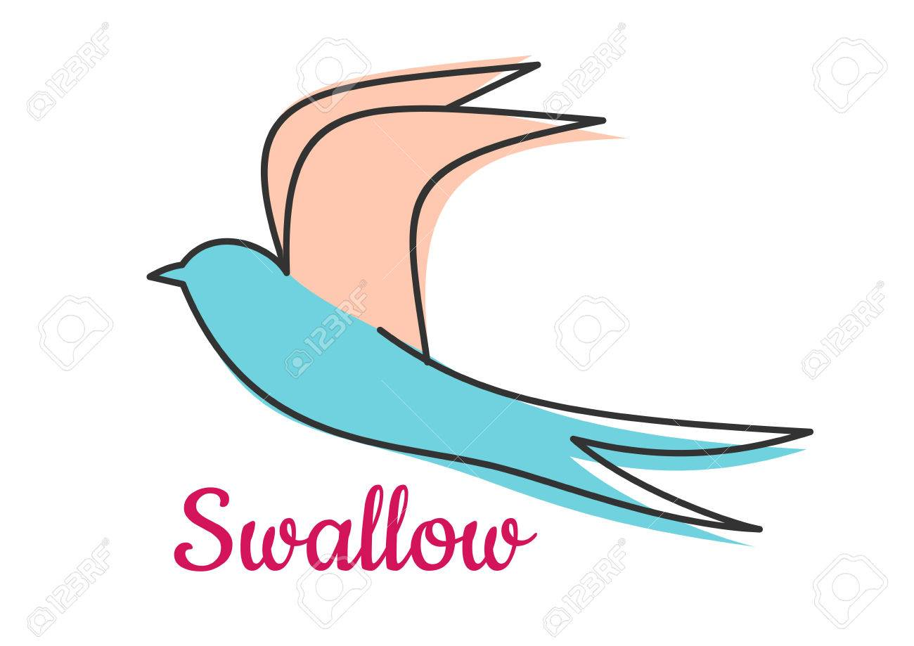 Abstract swallow bird symbol with long wings and text below royalty abstract swallow bird symbol with long wings and text below stock vector 35322725 biocorpaavc Gallery