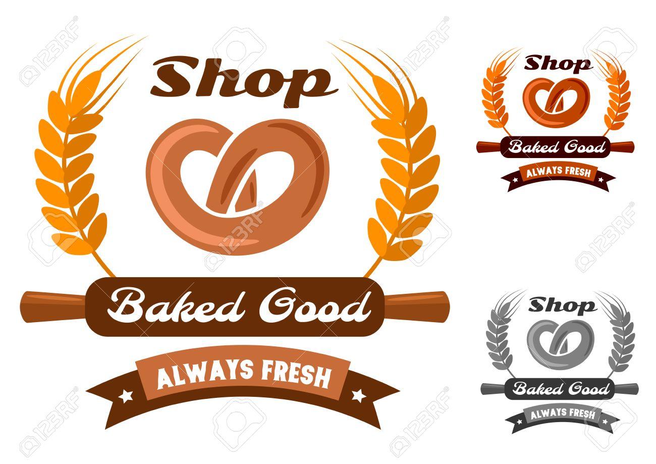 gelbes kuchendesign logos, bäckerei emblem oder logo in gelb, orange und grauen farbvariationen, Design ideen