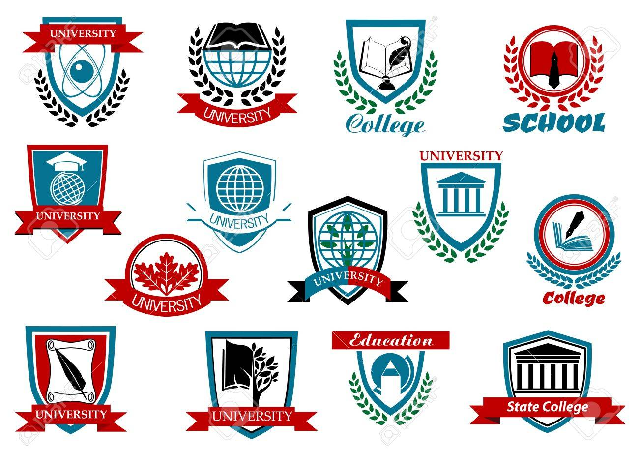 School University Or College Educational Emblems And Symbols