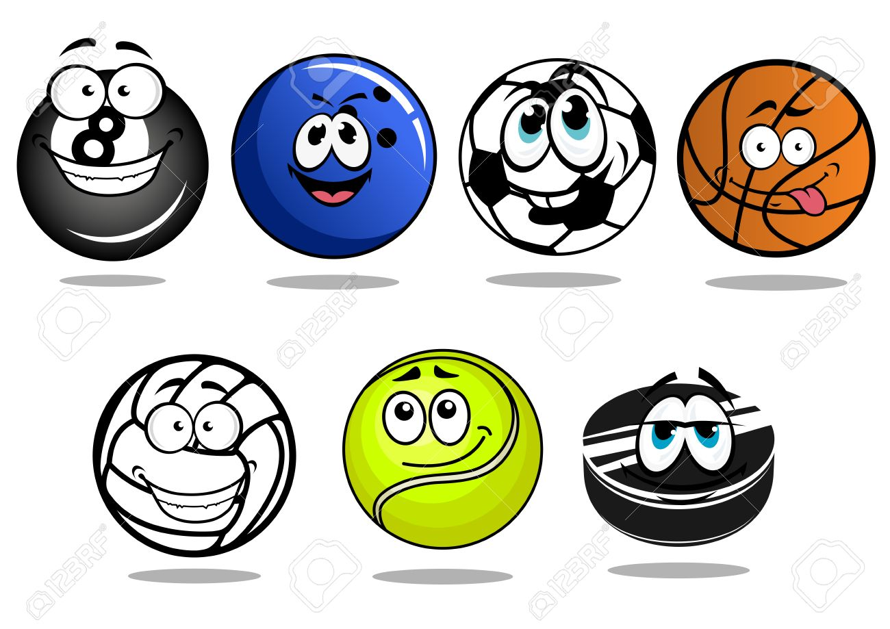 Funny Cartoon Balls And Puck Characters For Football Or Soccer Royalty Free Cliparts Vectors And Stock Illustration Image 38290303