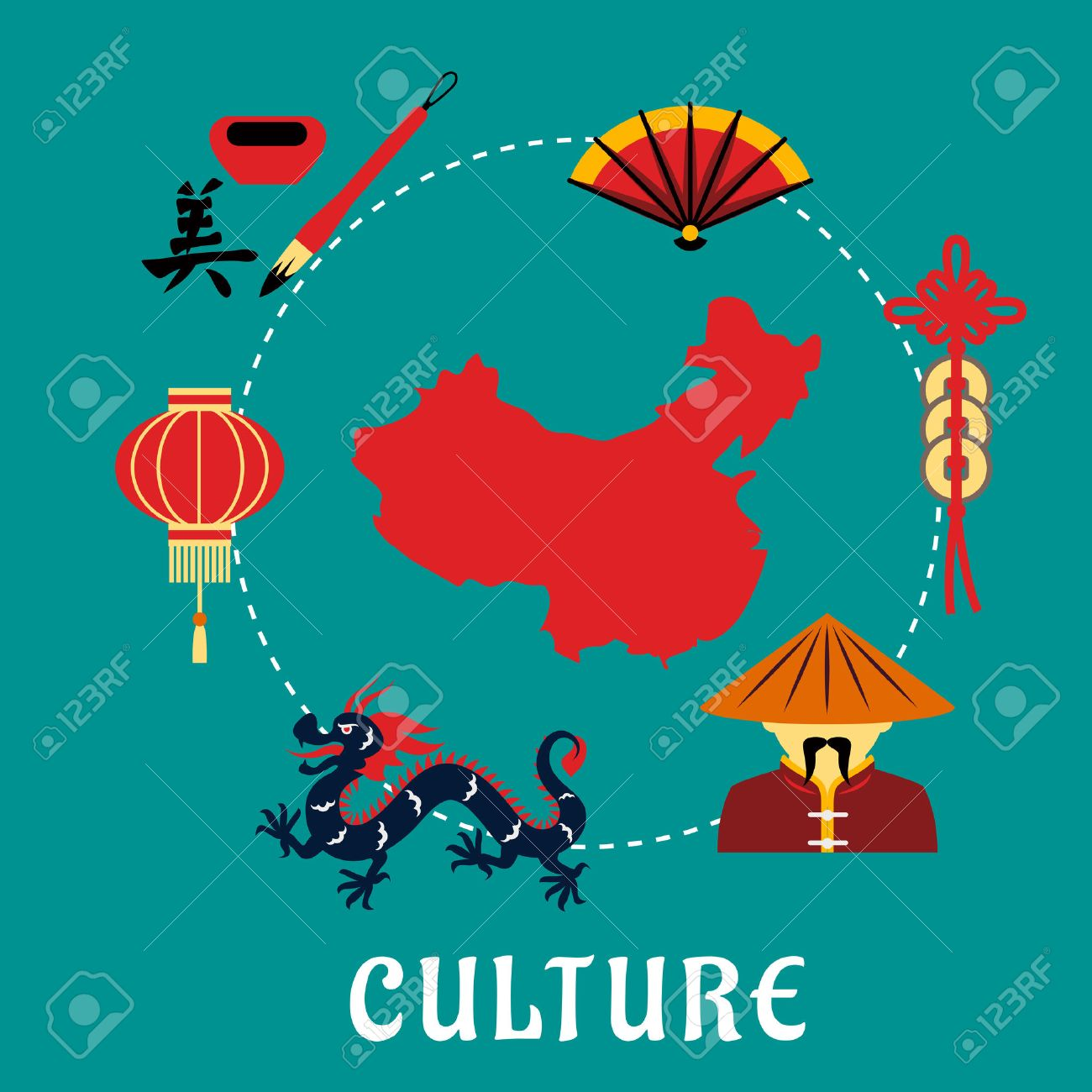 Chinese culture concept with dragon mandarin or chinaman lantern chinese culture concept with dragon mandarin or chinaman lantern calligraphy fan buycottarizona Images