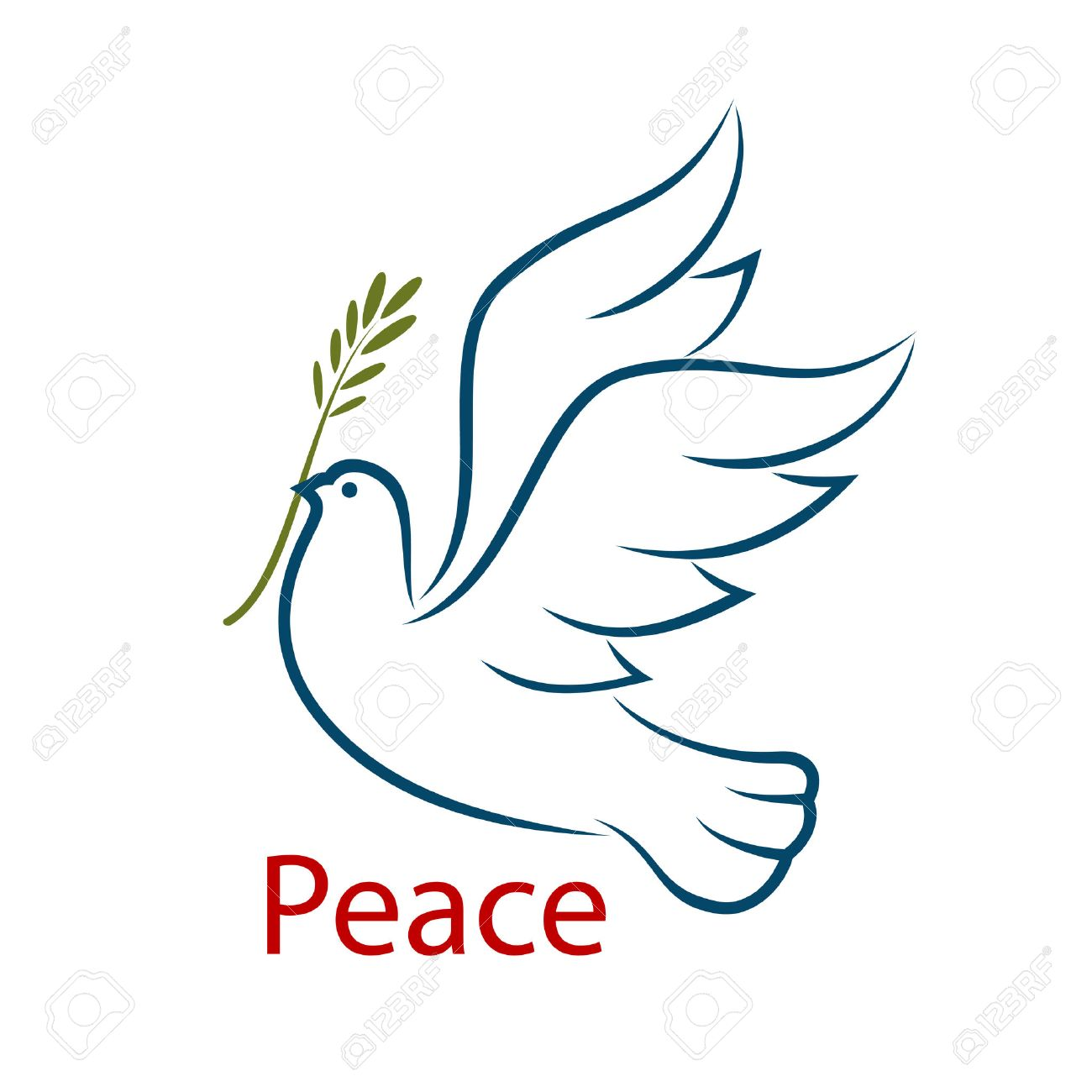 Flying dove with olive branch as a abstract symbol of peace and flying dove with olive branch as a abstract symbol of peace and unity isolated on biocorpaavc Gallery