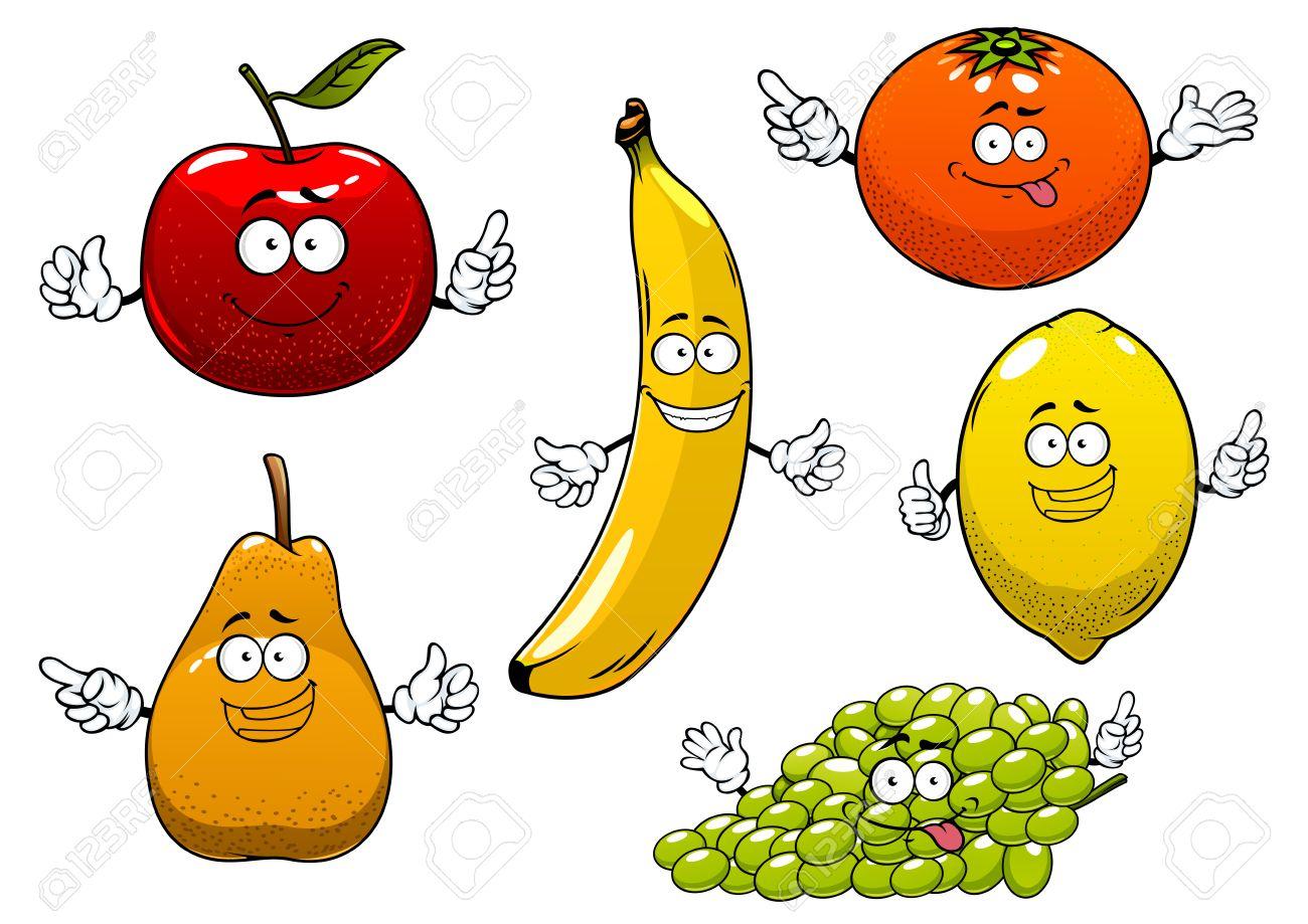 Divertidos Maduras De Dibujos Animados De Manzana Roja Pera