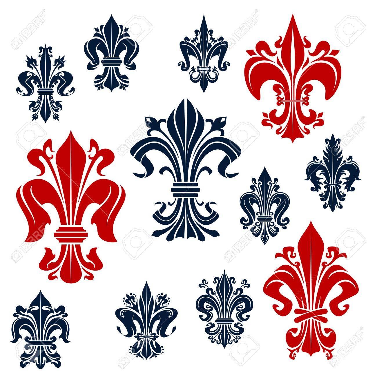 Royal French Heraldry Design Elements For Coat Of Arms Emblem