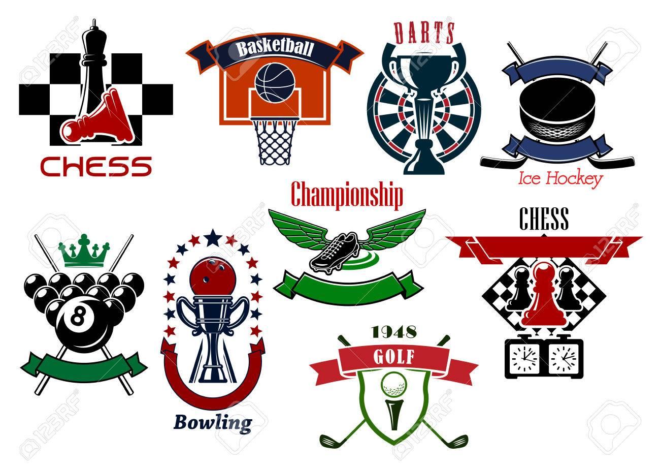 Sport game emblems and symbols in retro style for football or sport game emblems and symbols in retro style for football or soccer billiards golf buycottarizona