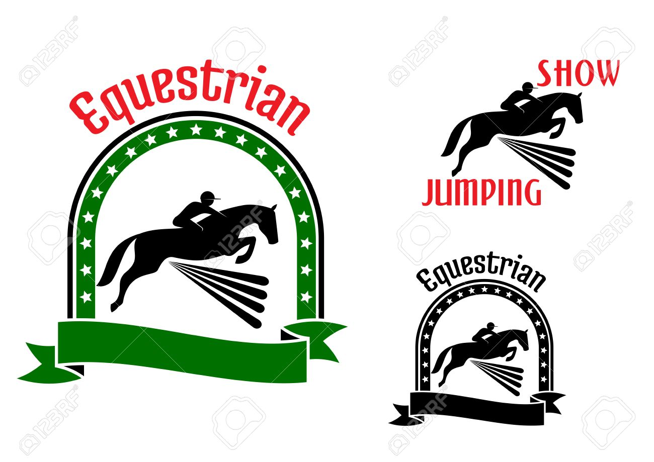 Equestrian sport symbols for show jumping or eventing design equestrian sport symbols for show jumping or eventing design with riders and horses jumping over high biocorpaavc