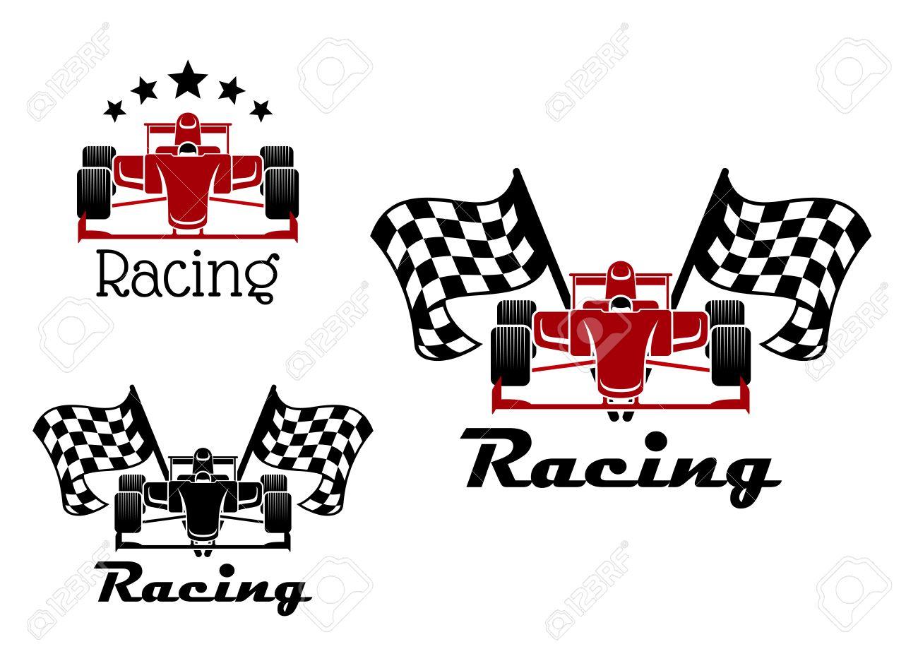 Car Auto Racing Flags Clip Art Checkered Border Cliparts