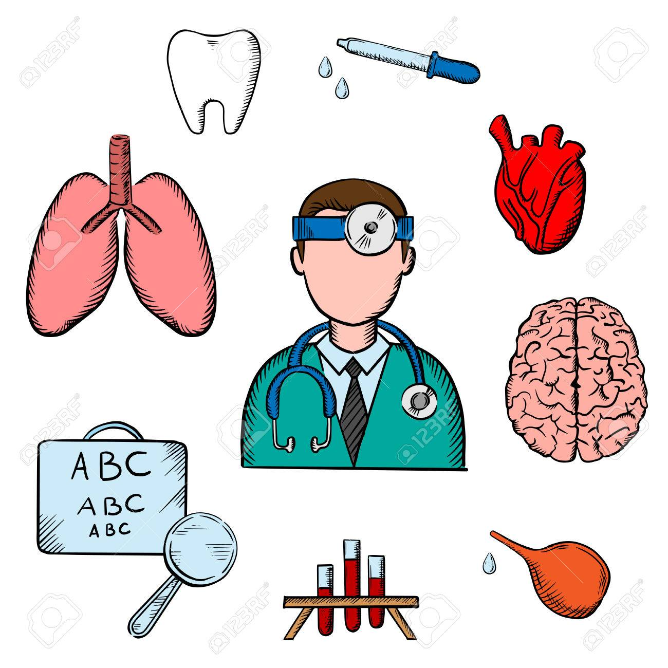 Medical icons with doctor encircled by an eye chart lungs tooth medical icons with doctor encircled by an eye chart lungs tooth eye geenschuldenfo Choice Image