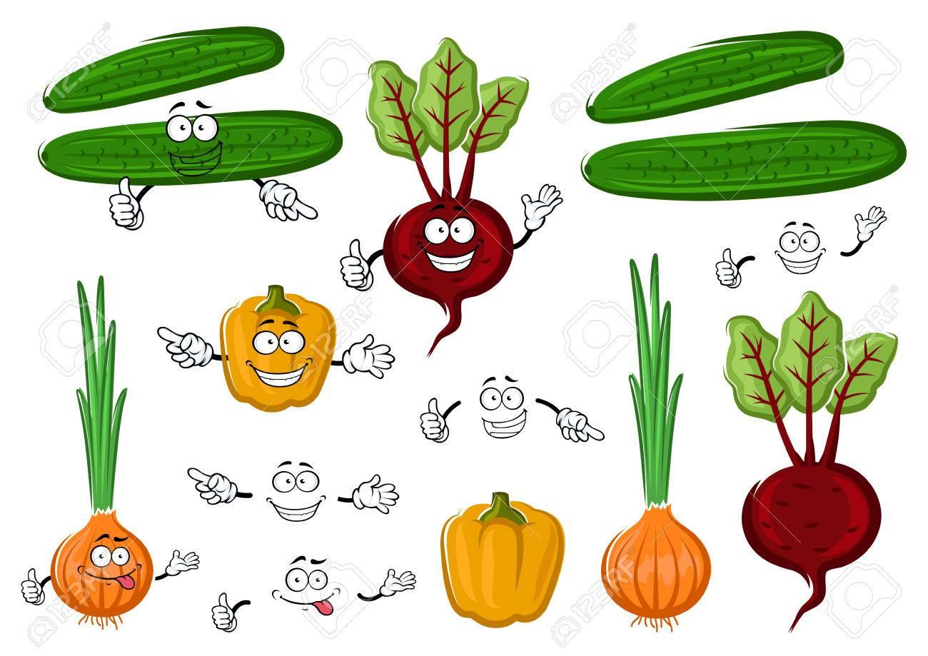 Vehículos Agrícolas Frescos Y Sabrosos Con Pimiento Remolacha Roja Pepino Y Cebolla Verde Naranja Para El Libro De Recetas Comida Vegetariana O La