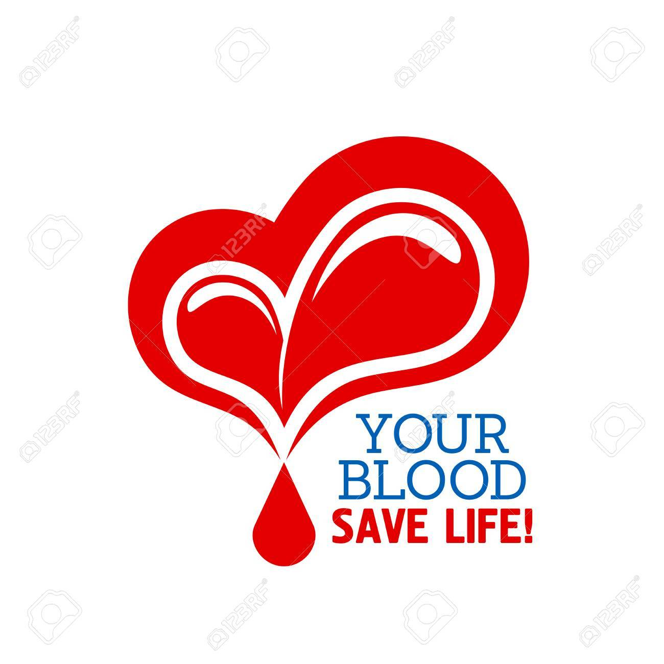 Blood donation symbol with heart and drops of blood with text blood donation symbol with heart and drops of blood with text your blood save life buycottarizona