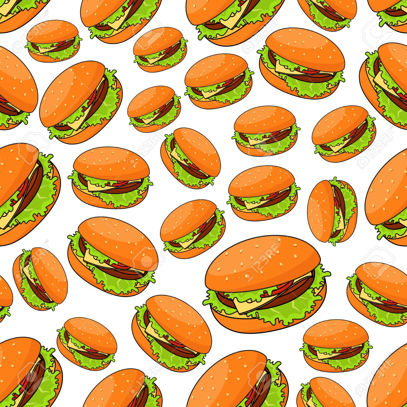 Fast Food Seamless Pattern For Takeaway Restaurant Menu Fast Royalty Free Cliparts Vectors And Stock Illustration Image 52486625