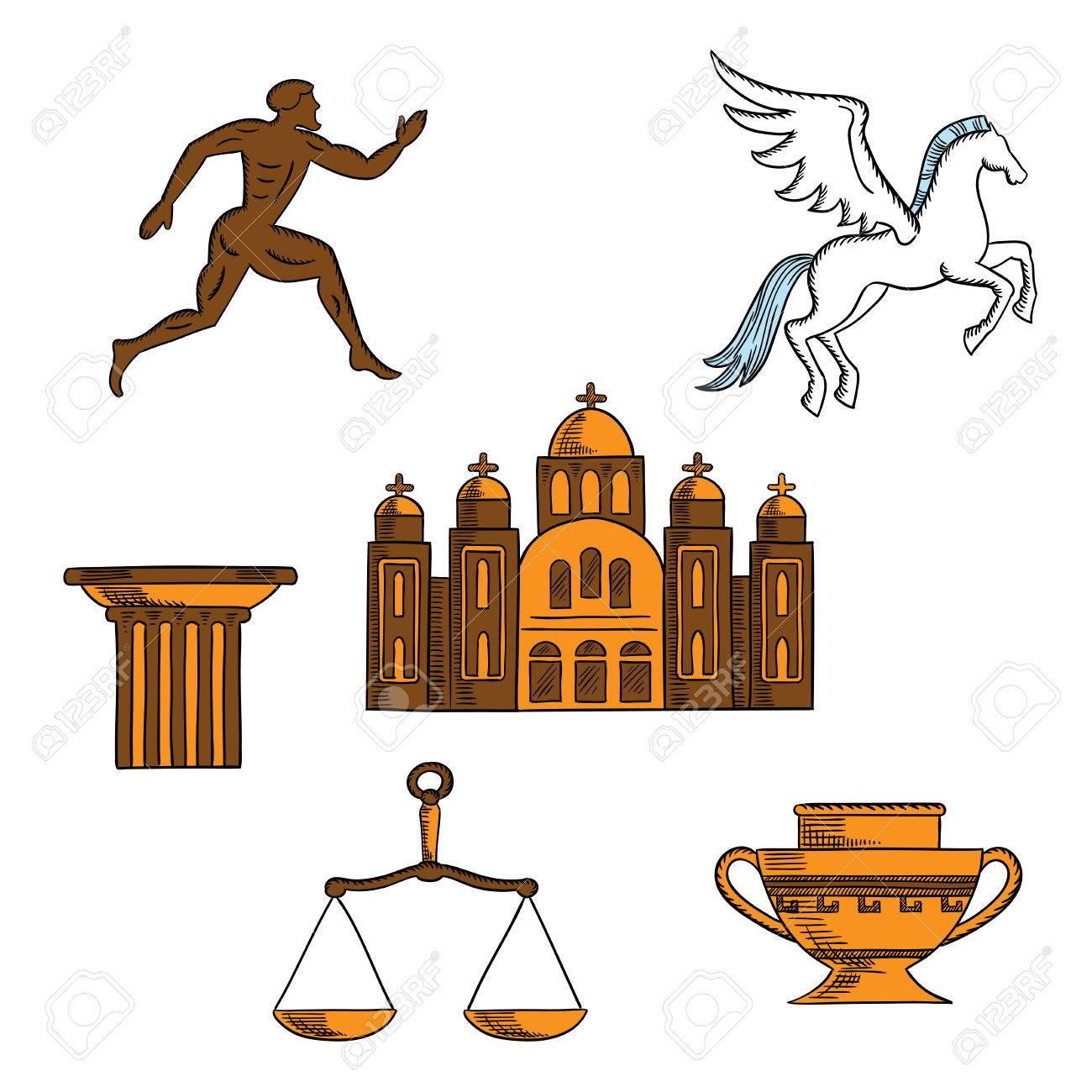 Ancient greek mythology art religion and architecture sketches ancient greek mythology art religion and architecture sketches for welcome to greece concept design biocorpaavc