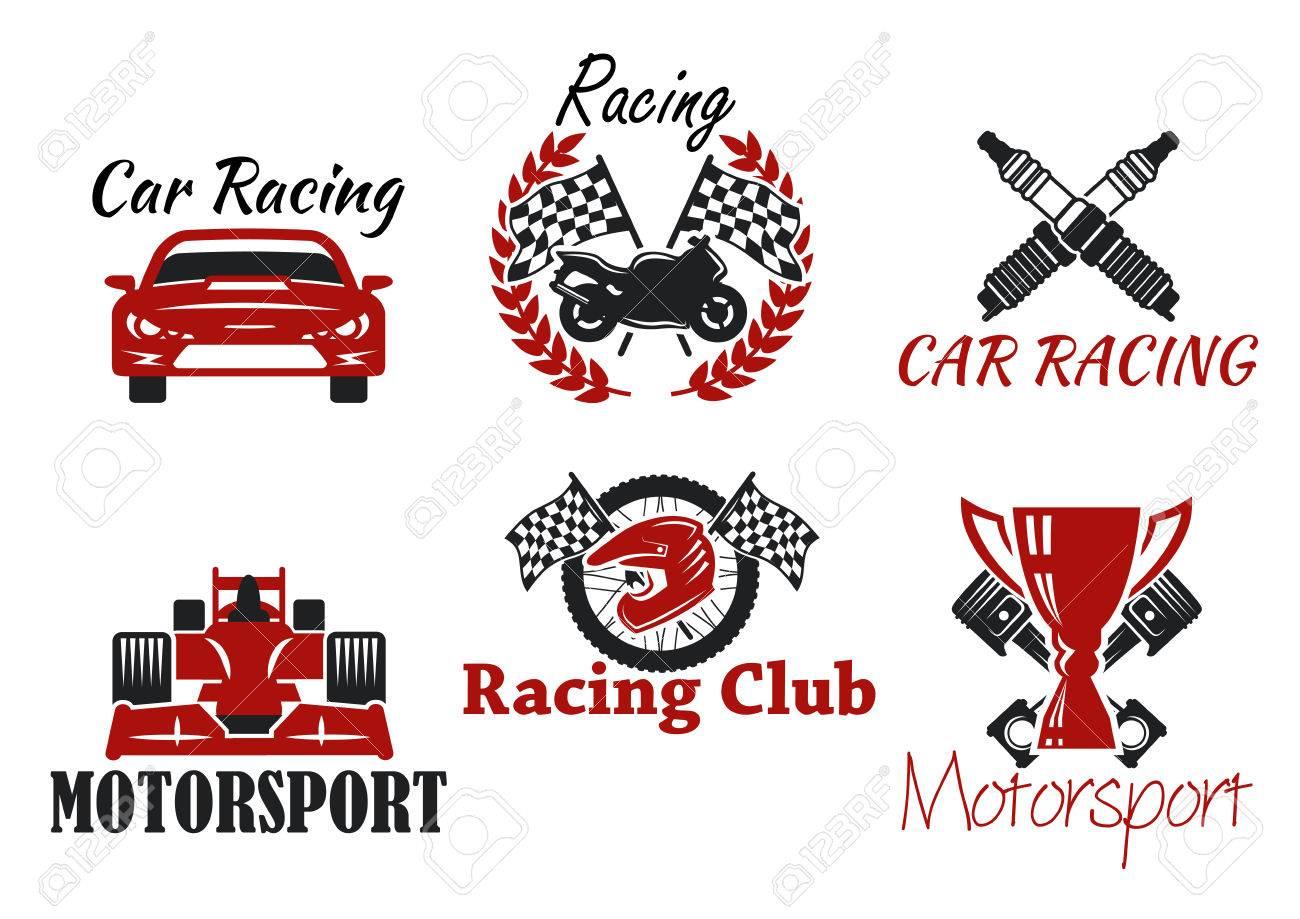 Motorsport and racing sport heraldic symbols for racing club motorsport and racing sport heraldic symbols for racing club or race competition design with racing cars biocorpaavc