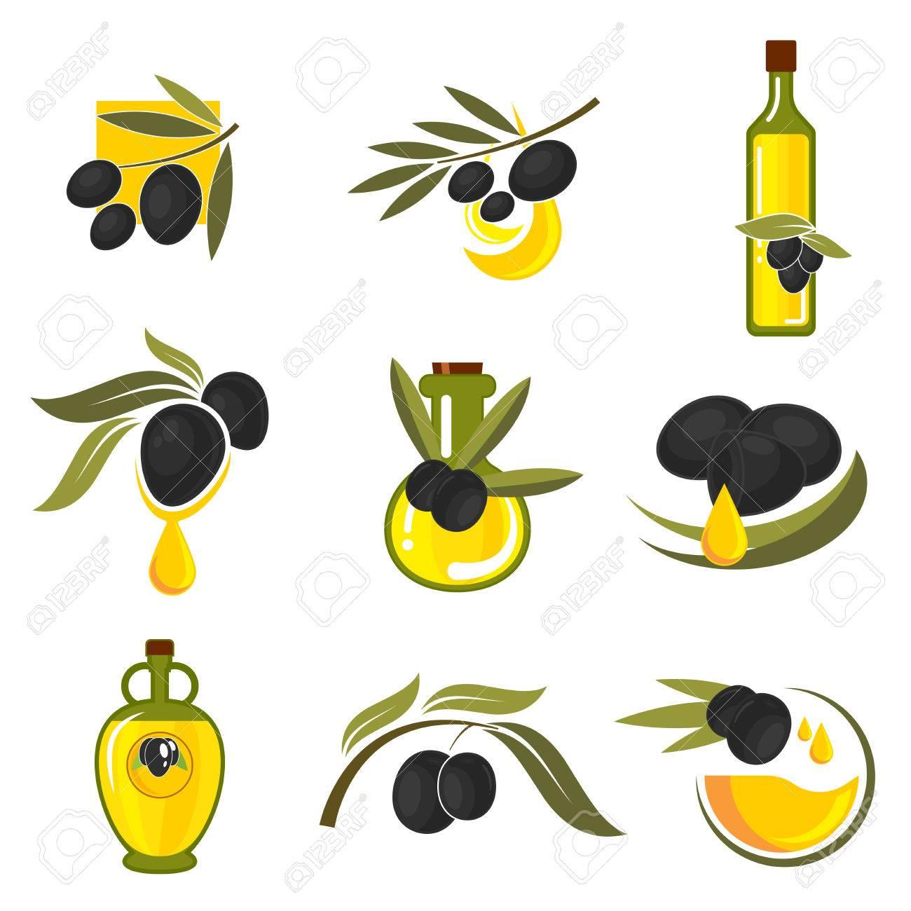 Spanish black olives symbols of olive tree branches with fresh spanish black olives symbols of olive tree branches with fresh fruits and bottles of healthful extra buycottarizona Choice Image
