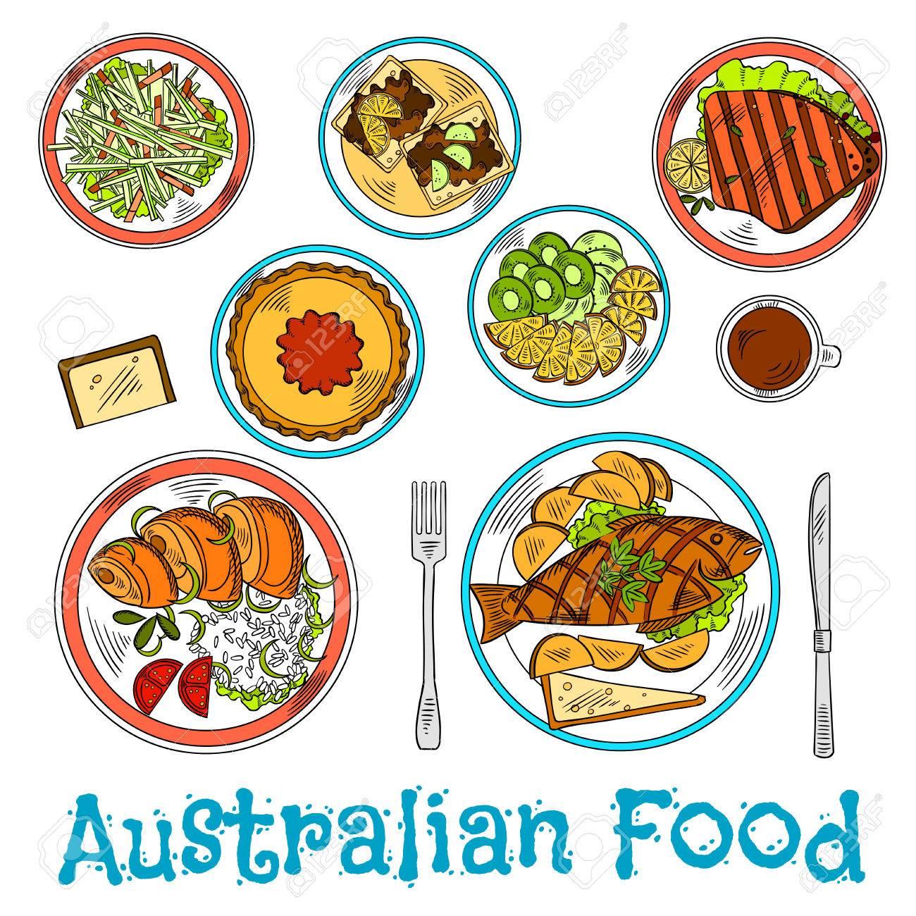 Cena Australiano Auténtica Preparada A Partir De Ingredientes