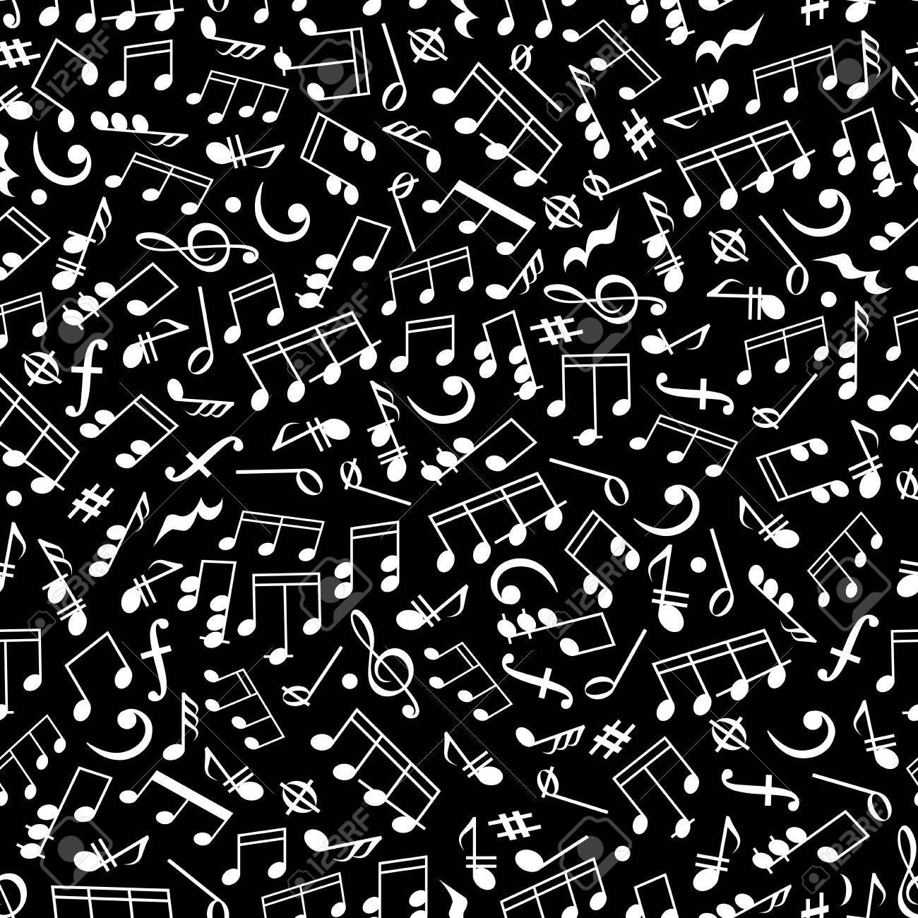Note Musicali Sfondo Nero