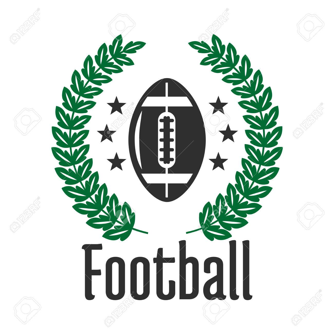 Football sports club or team symbol with ball framed by heraldic football sports club or team symbol with ball framed by heraldic laurel wreath and stars biocorpaavc