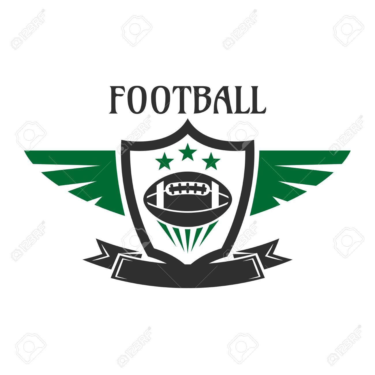 Los Deportes De Fútbol Americano Signo Equipo De Pelota De Estrellas ...