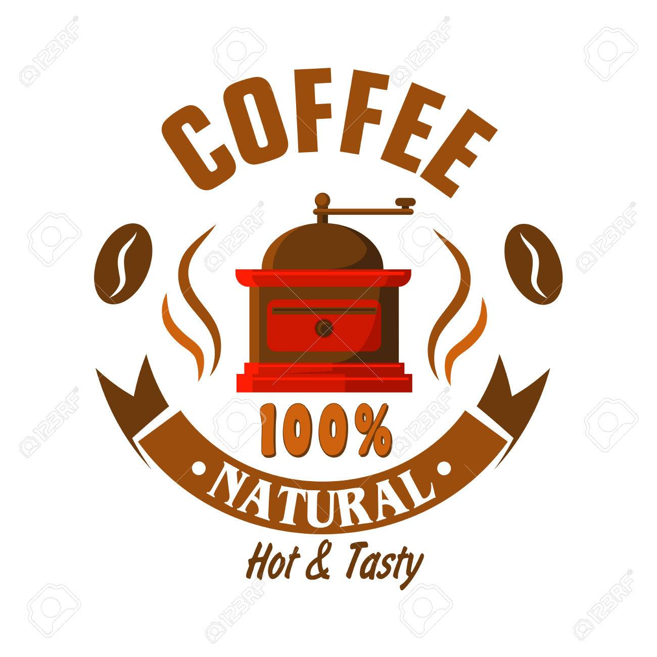 Coffee Shop Or Vintage Cafe Symbol For Signboard Or Food Packaging