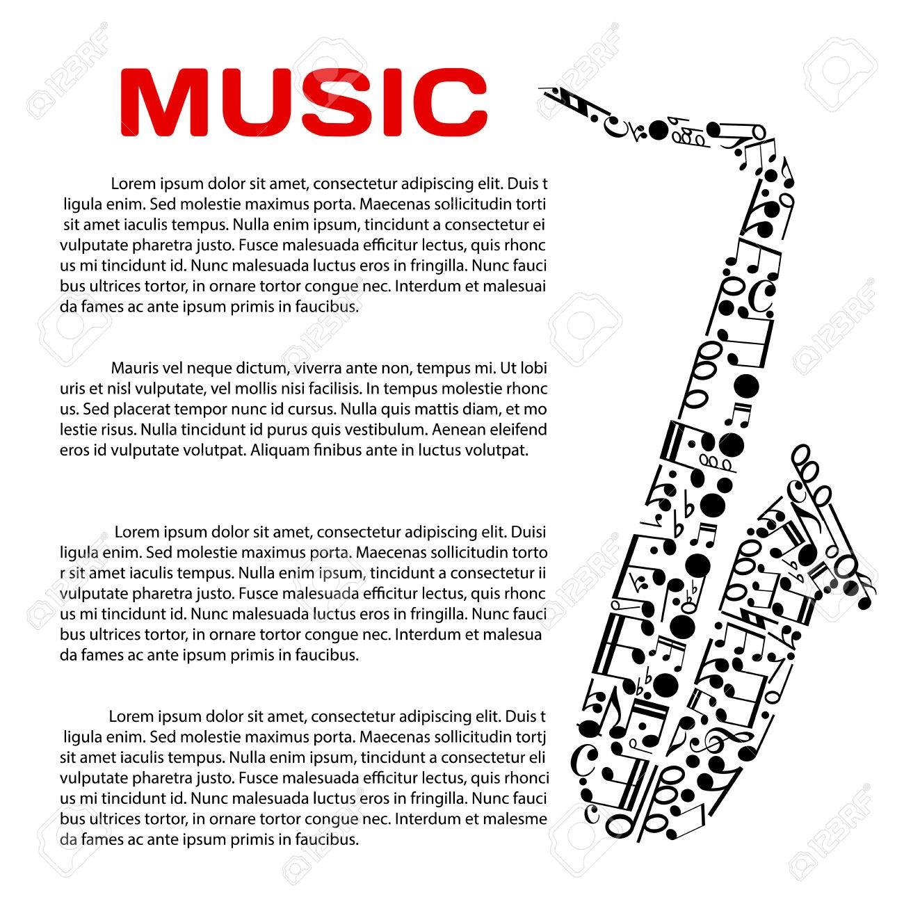 Music Event Poster Design Template Jazz Festival Music Award Or