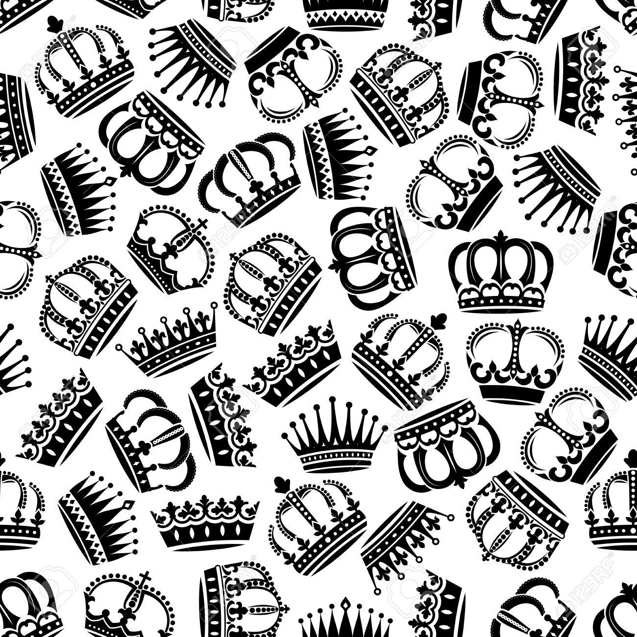 Medieval Coronas Victorian Sin Problemas De Fondo En Blanco Y Negro
