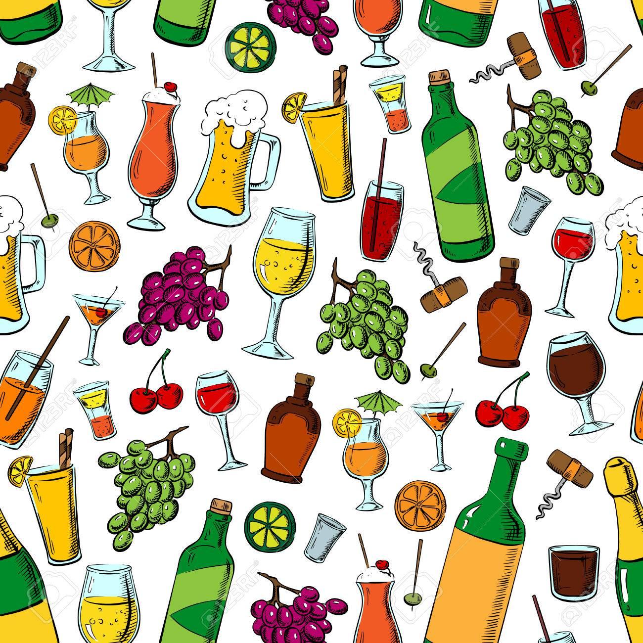 Geburtstags-Party Getränke Und Früchte. Cocktails, Getränke Und ...