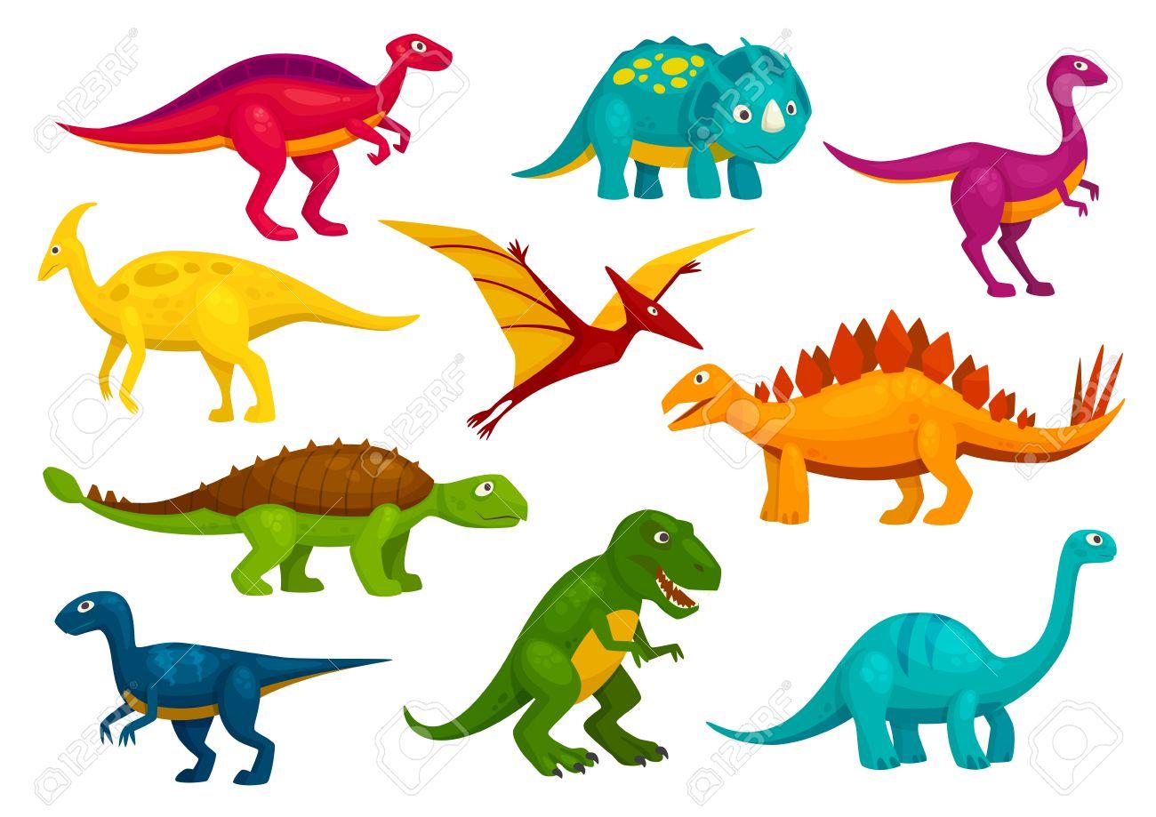 Dinosaurios Colección De Dibujos Animados Linda T Rex