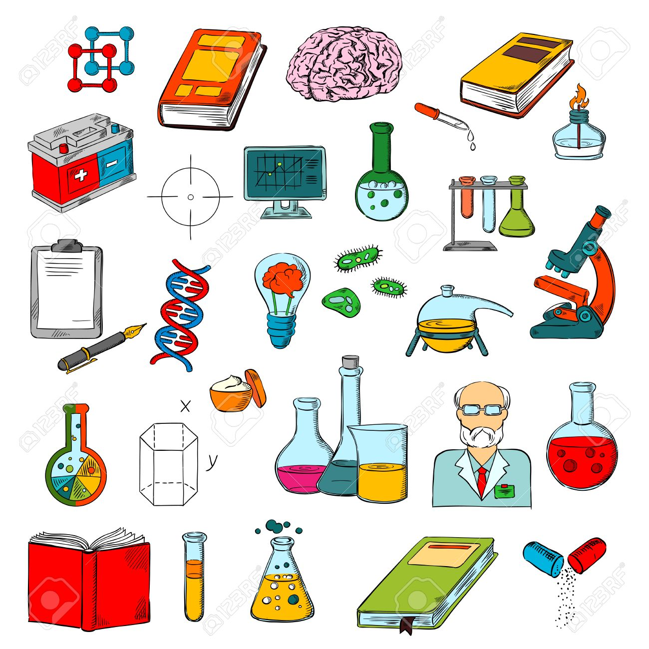Symbols chemistry map maker mac physics chemistry and medicine science research symbols of 60305255 physics chemistry and medicine science research symbols of sketched books microscope buycottarizona