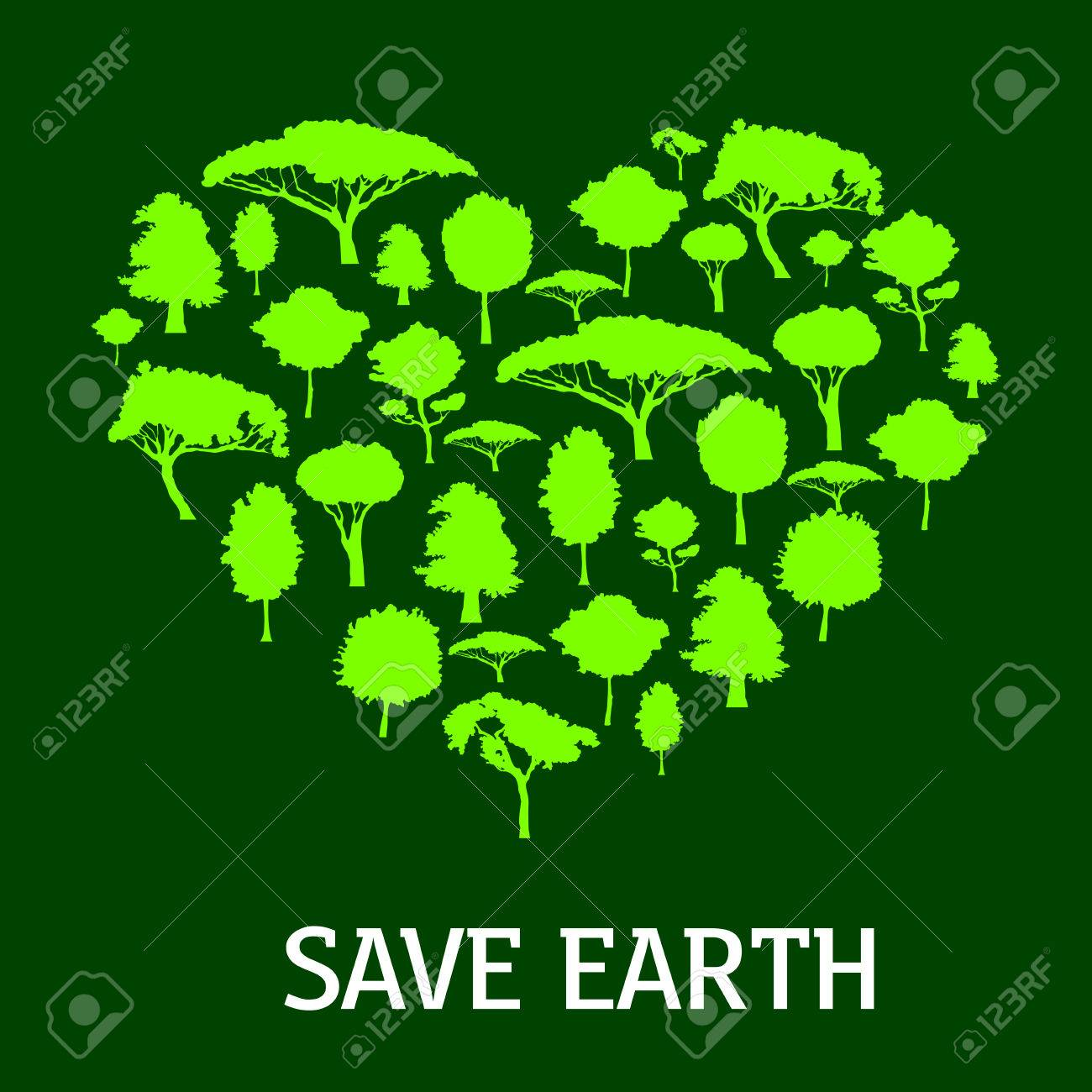 Green heart of nature symbol made up of trees and plants green heart of nature symbol made up of trees and plants silhouettes may be use buycottarizona