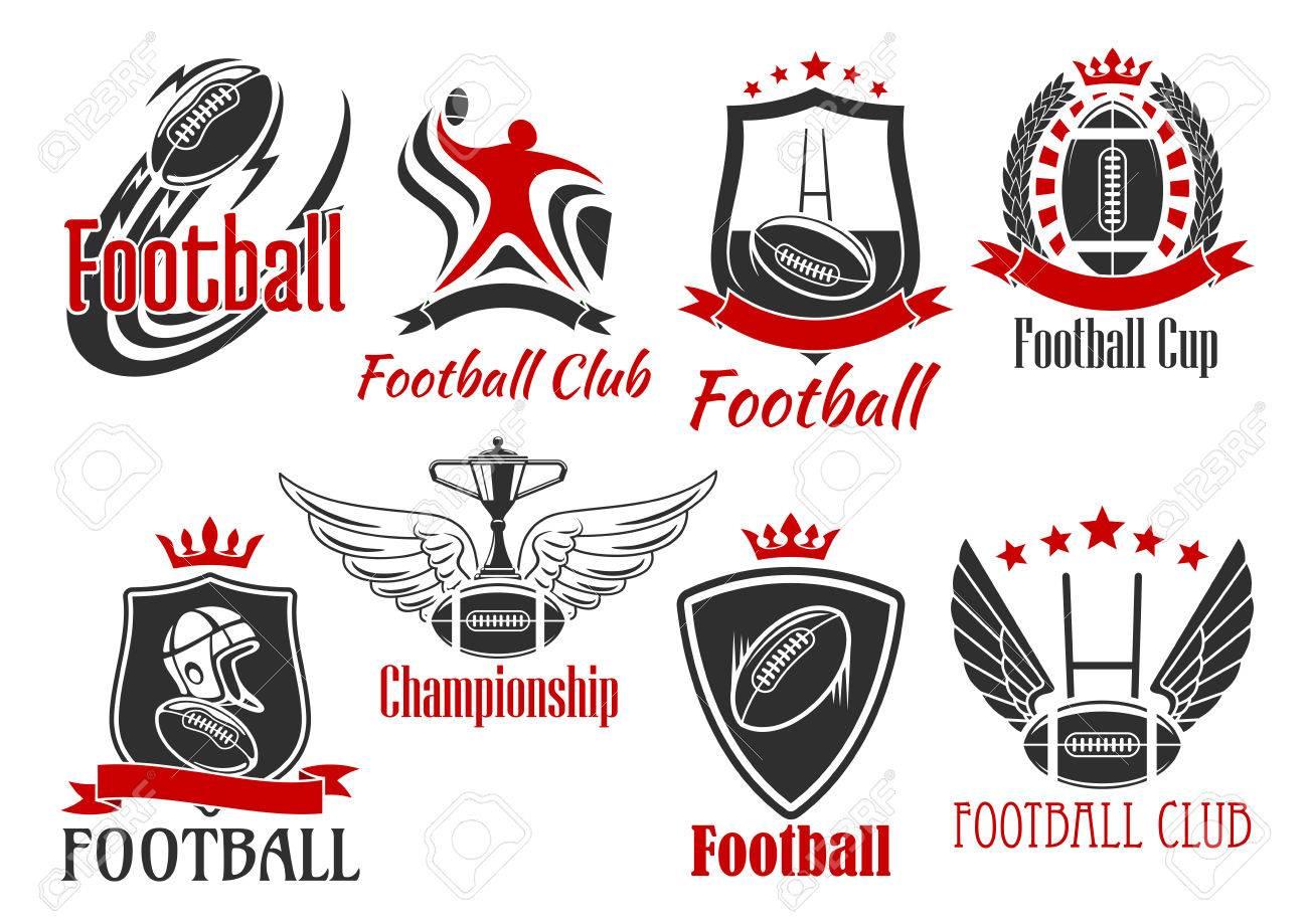 Fútbol Y Deportivos De Rugby Insignias Americanas De Bolas, Jugador ...