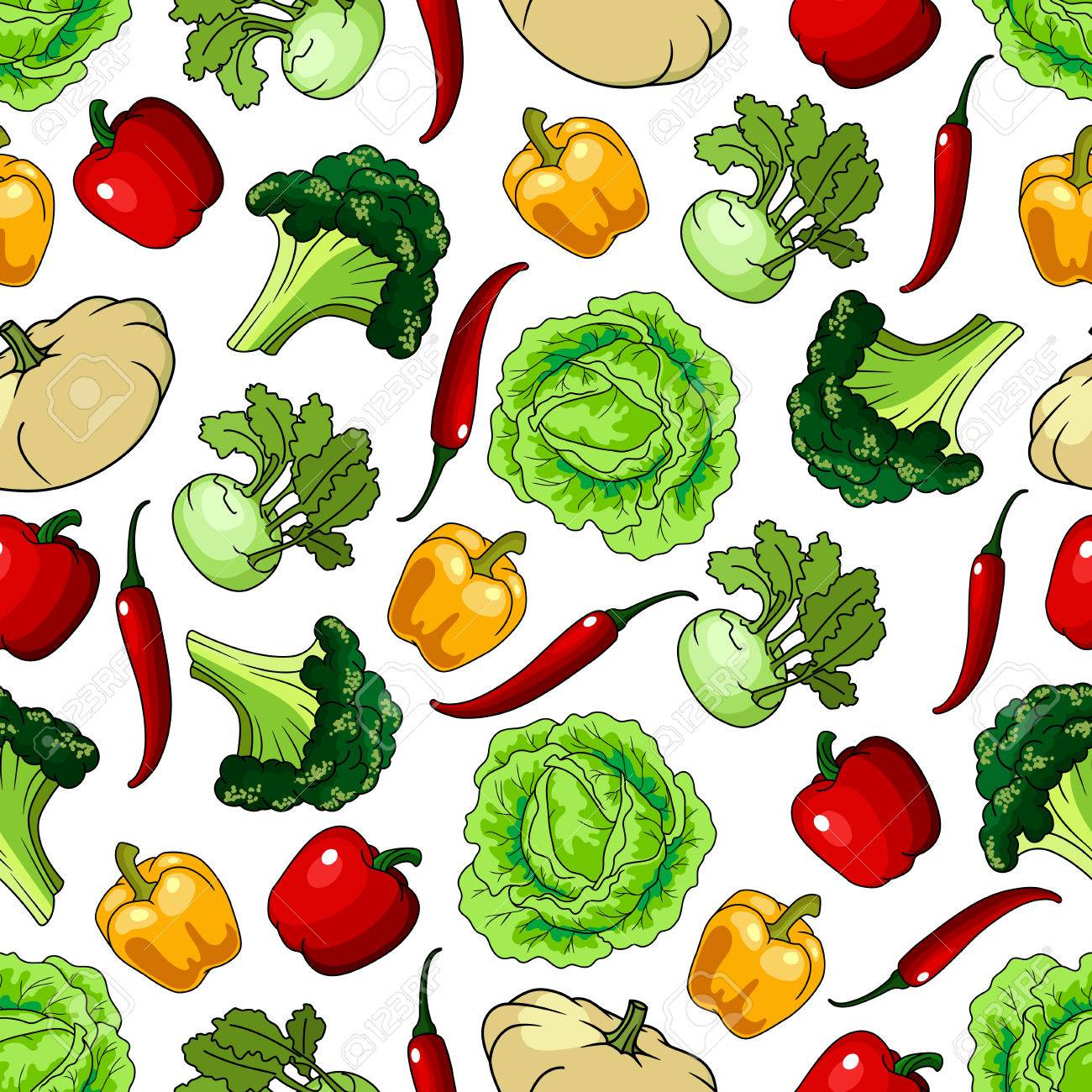 Vegetables Seamless Background Wallpaper With Pattern Of Fresh Royalty Free Cliparts Vectors And Stock Illustration Image 62637301