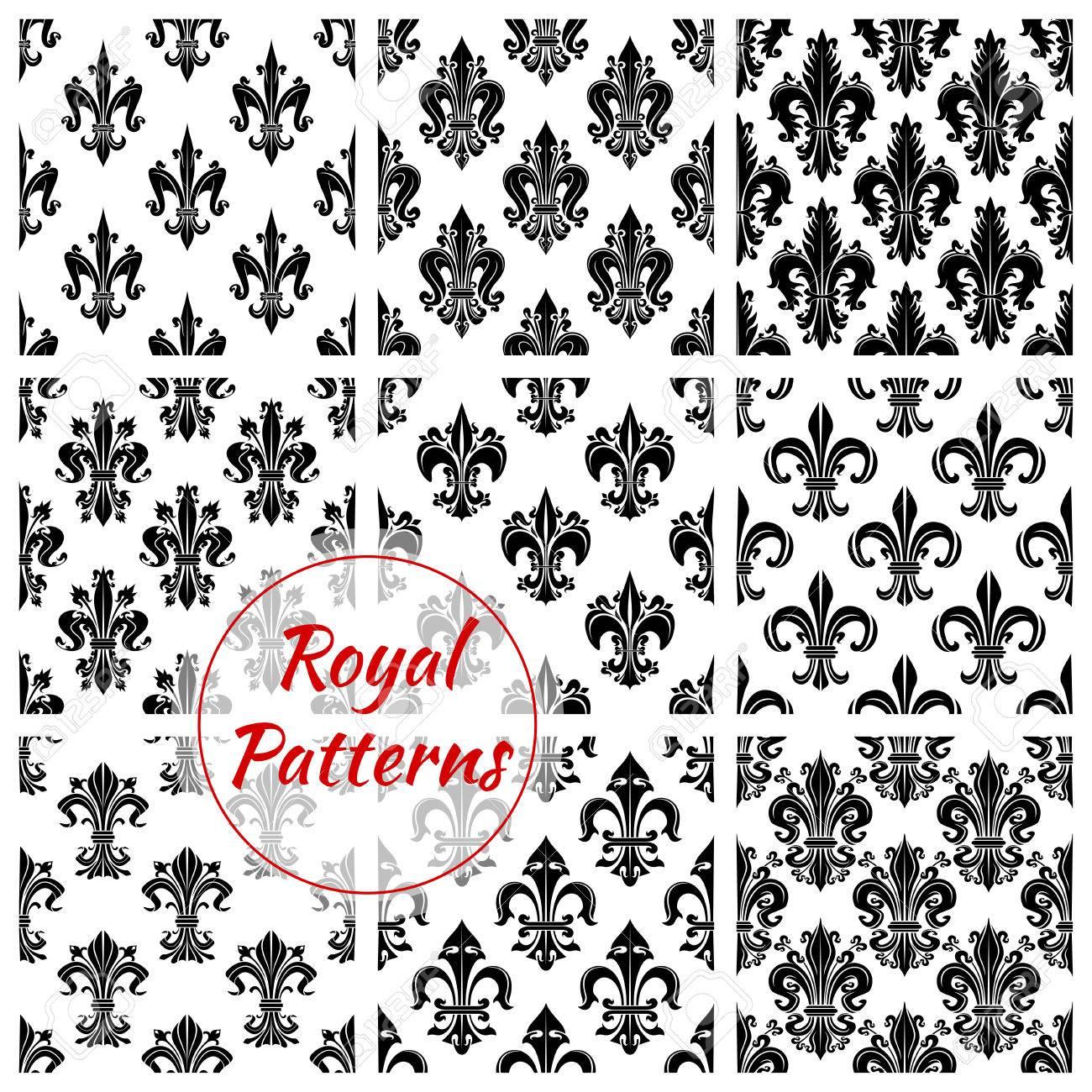 Royal Fondos Lirio Sin Costura Francesa. Fondo De Pantalla Con Los ...