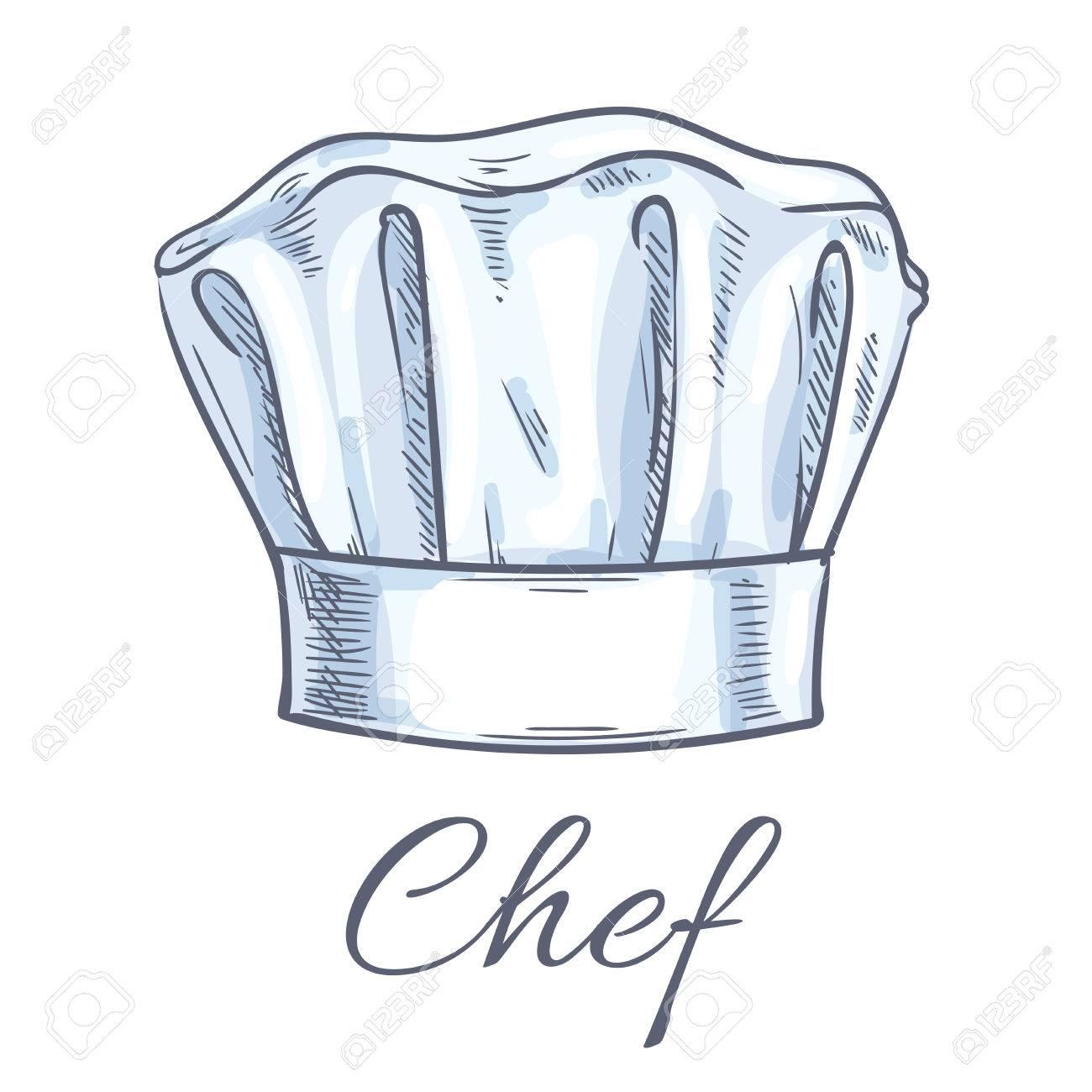 Chef Toque Vector Sketch Icon. Cook Cap b8e75c6d150