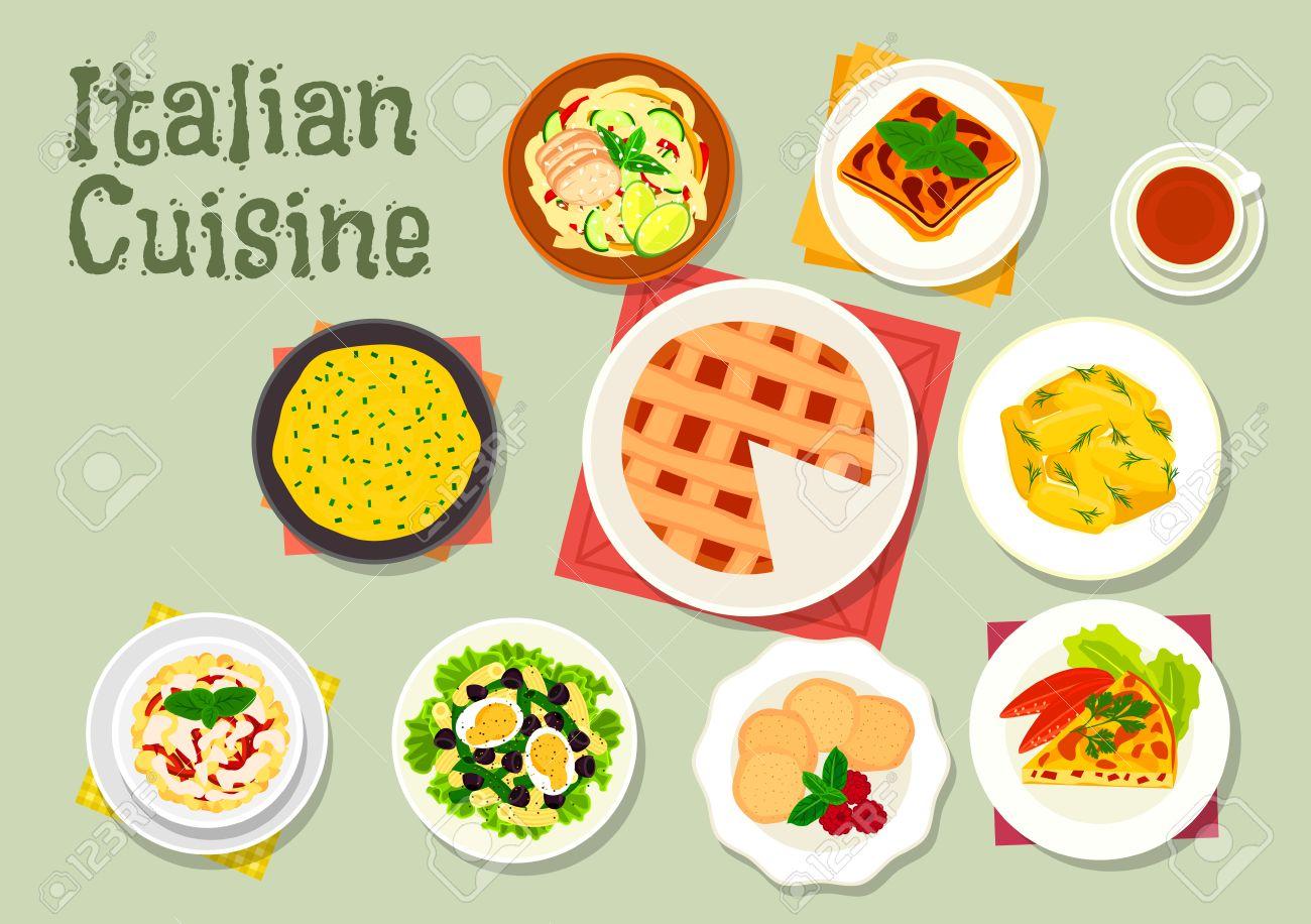 kaesekuchen mit wuerstchen, italienische küche pasta-gerichte symbol serviert mit wurst, Design ideen